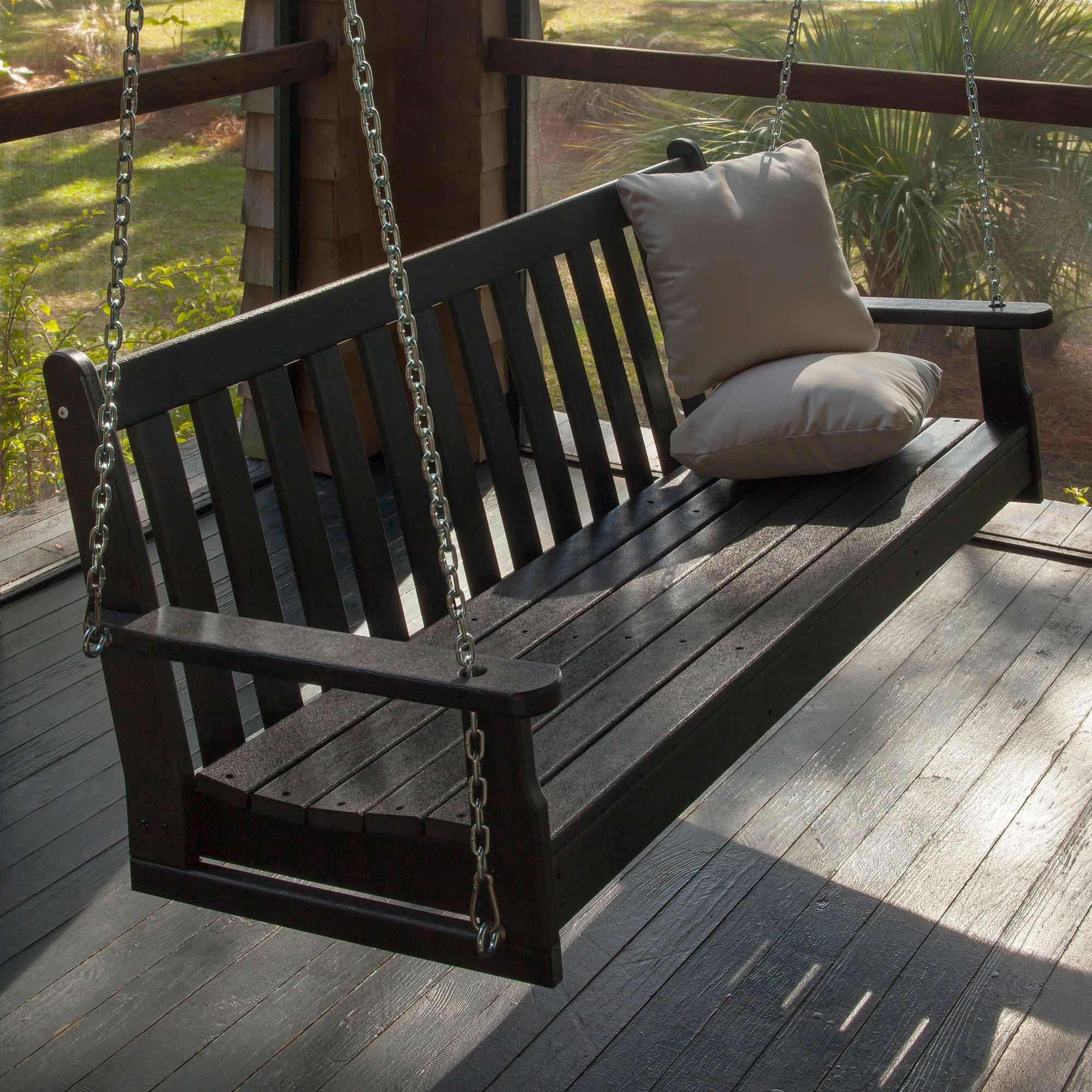Porch Swing, Patio Swing, House With Porch With Vineyard Porch Swings (View 5 of 30)