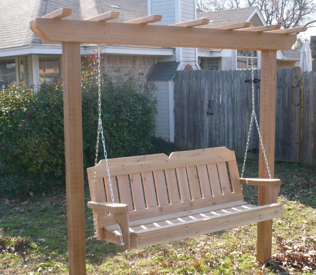 Porch Swing With Stand, Porch With Regard To Hardwood Hanging Porch Swings With Stand (View 23 of 30)
