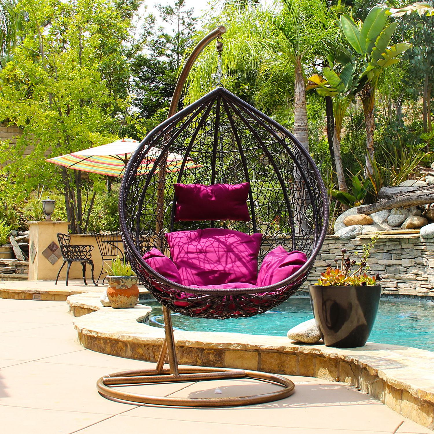 Porch Swing With Stand, Swinging Chair (View 5 of 30)