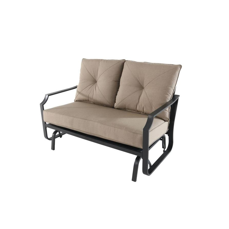 Porch Swings & Gliders At Lowes Intended For Current 2 Person Hammered Bronze Iron Outdoor Swings (View 26 of 30)
