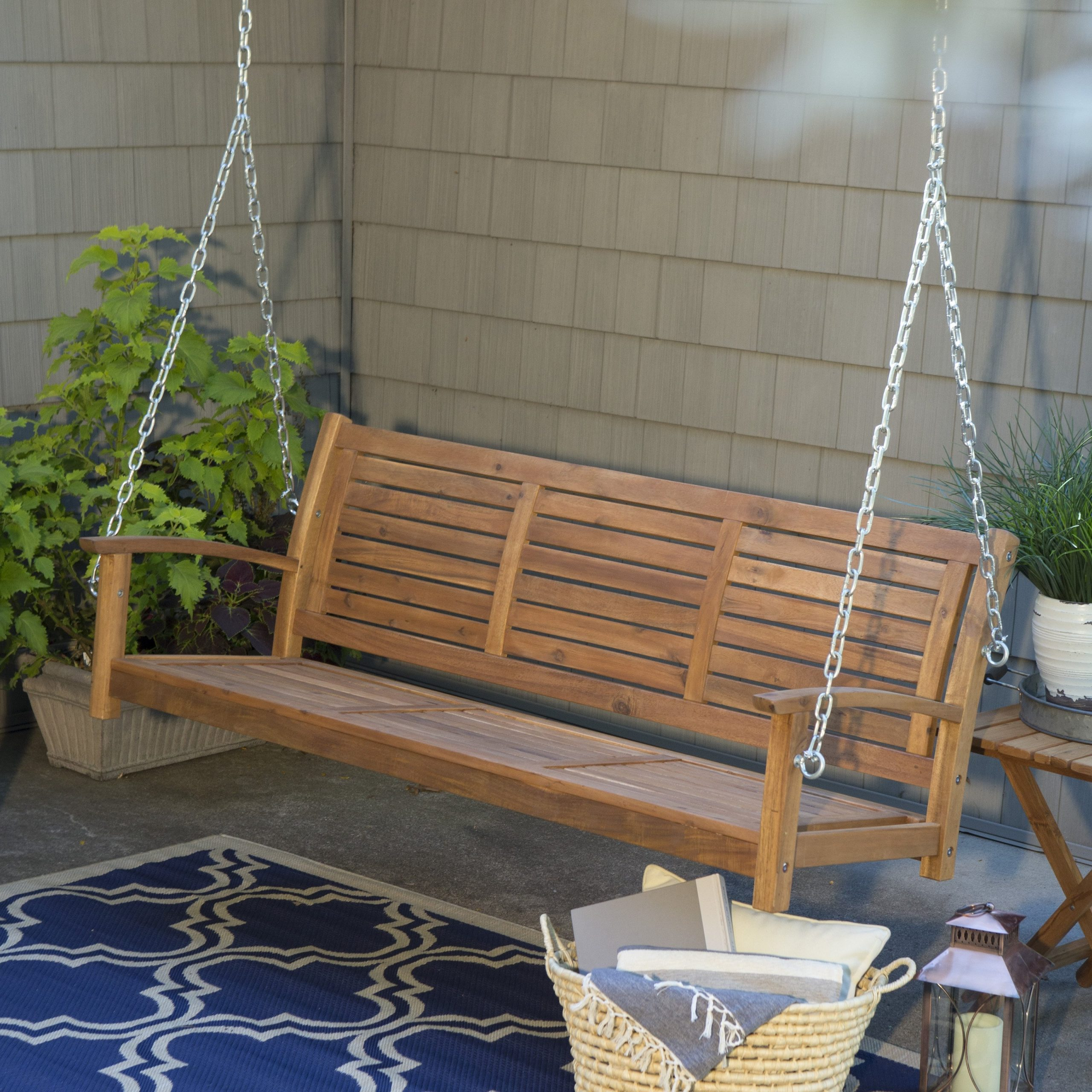 Porch Swings With Chain Within Popular Hanging Chain For Porch Swing (View 13 of 30)
