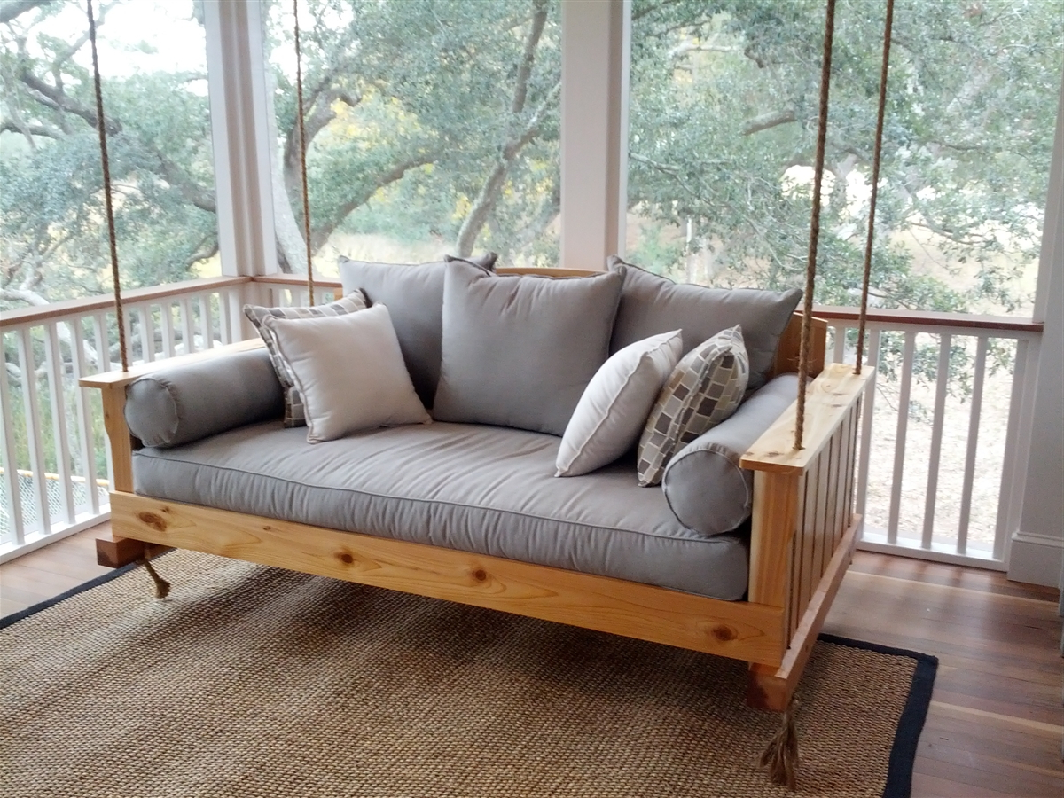 Porch Swings With Regard To Fashionable Great And Fun Ideas Porch Swing Bed (View 12 of 30)