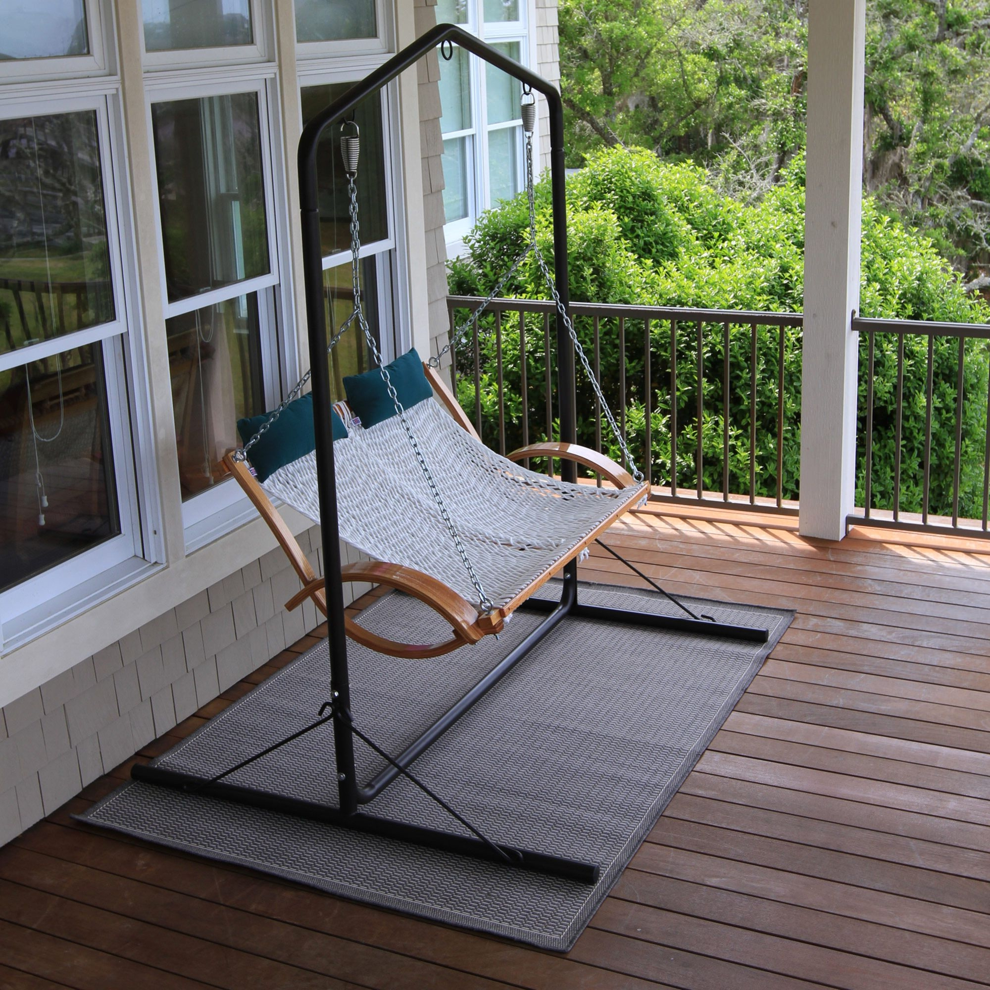Porch Swings With Stand For Well Known Metal Porch Swings With Stands (View 8 of 30)