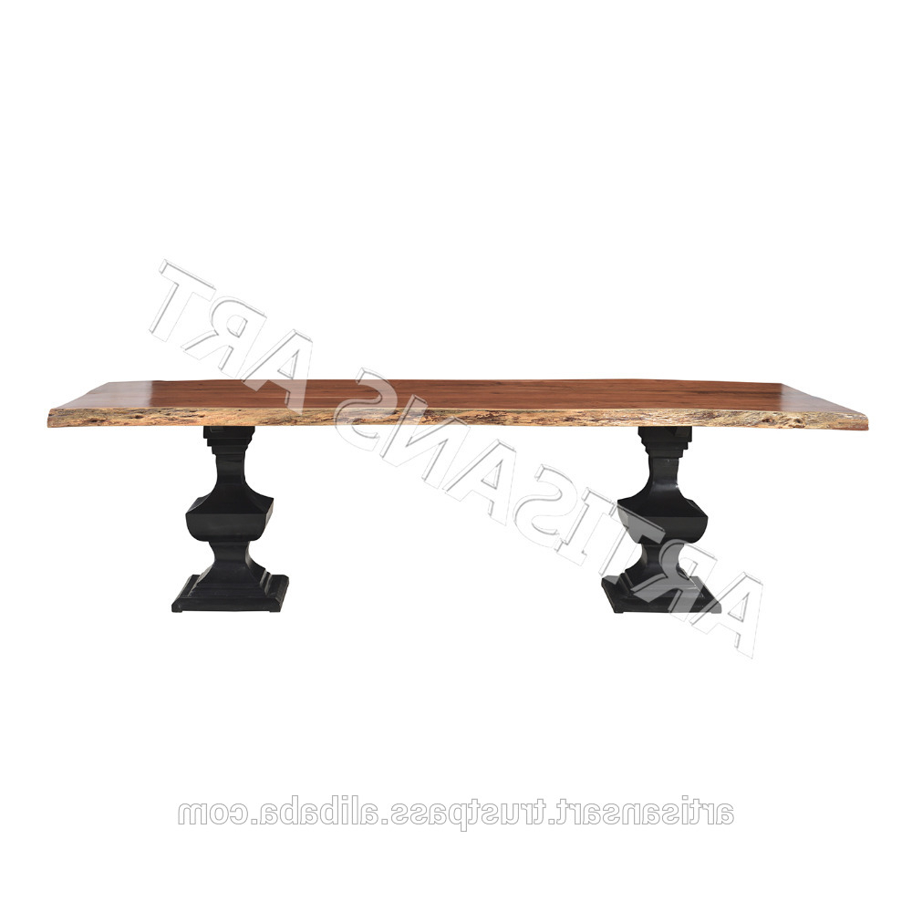 Preferred Acacia Wood Dining Tables With Sheet Metal Base With Vintage Rustic Live Edge Dining Table With Wonderful Iron Base,acacia Wood  Slab Table,dining Room Furniture – Buy Live Edge Dining Table,solid Wood (View 23 of 30)