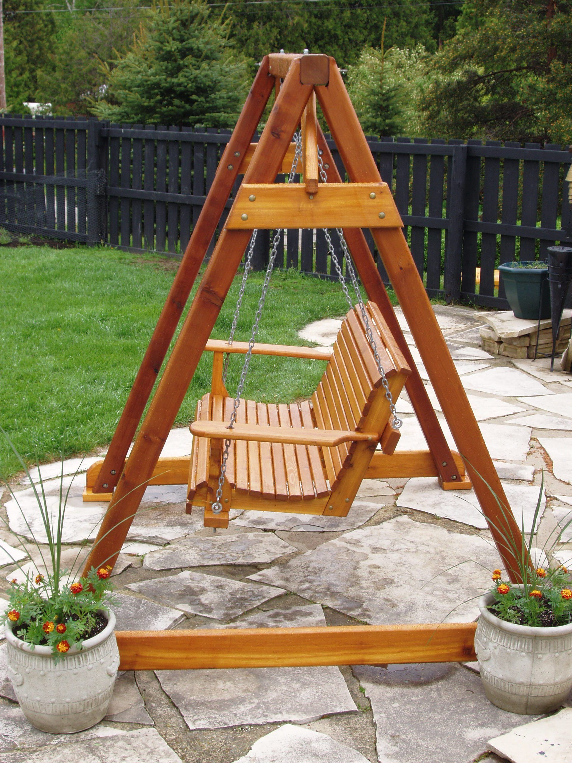 Preferred Build Diy How To Build A Frame Porch Swing Stand Pdf Plans Inside Patio Porch Swings With Stand (View 4 of 30)