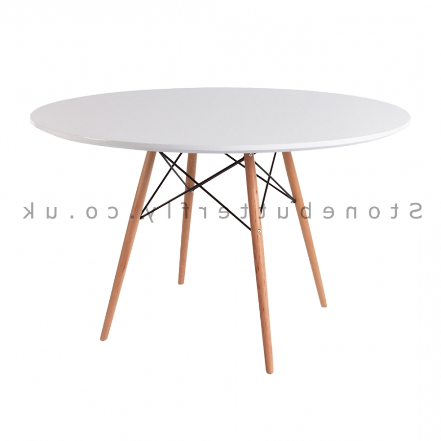 Preferred Eames Style Dining Tables With Wooden Legs Within Attractive Eame Style Dining Table Charle Ray White Round (View 26 of 30)