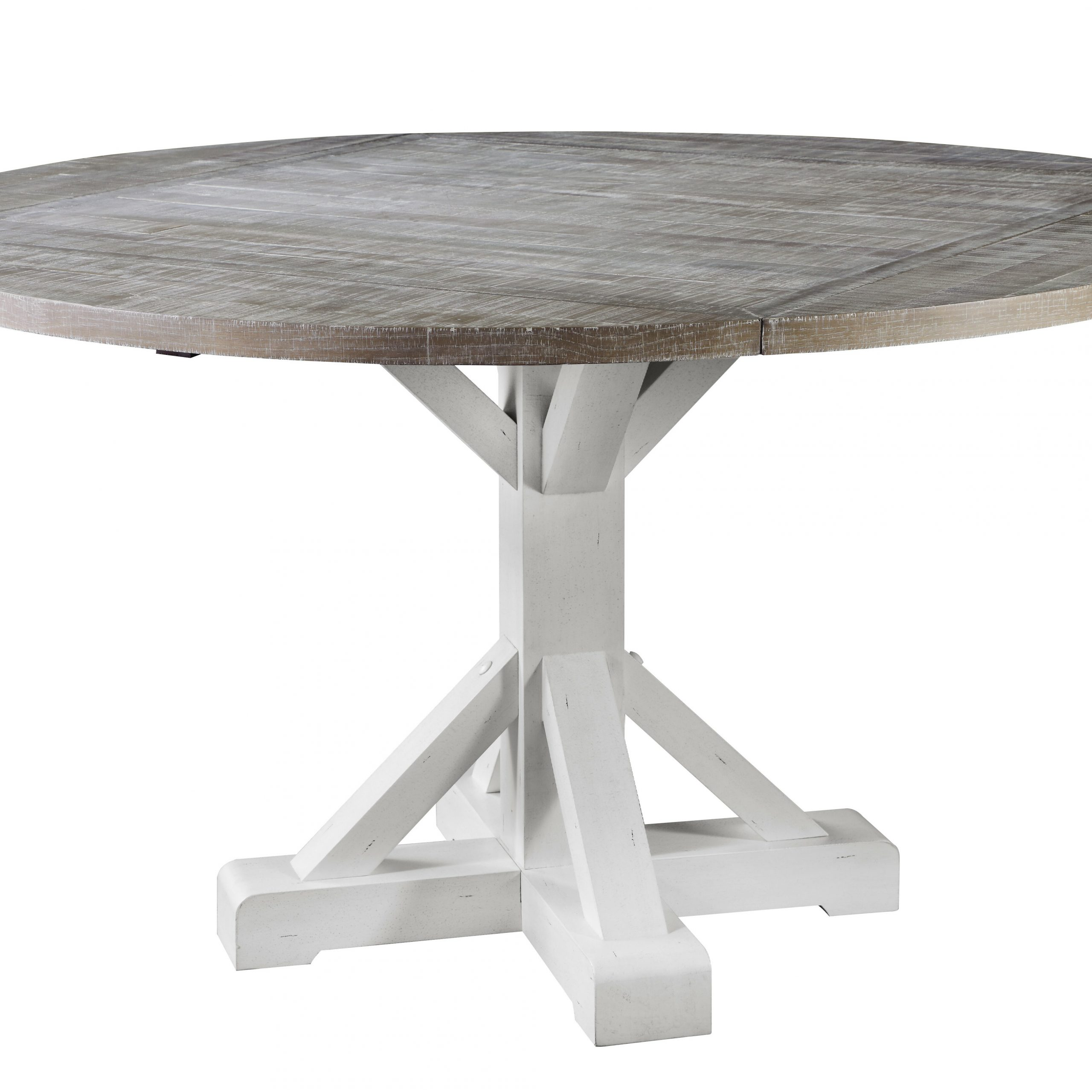 Preferred Emerald Home Thorsby Antique White And Acorn Grey Round Gathering Height  Dining Table With Rustic Wood Top, Antique Finish, And Self Storing Drop  Leaf For Transitional Antique Walnut Drop Leaf Casual Dining Tables (View 8 of 30)