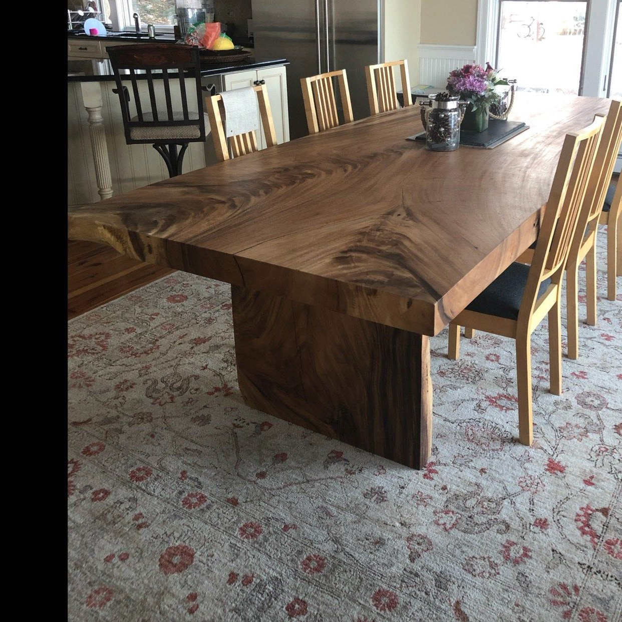 Preferred Live Edge Dining Tables, Acacia Curved Slabs, Live Edge Pertaining To Unique Acacia Wood Dining Tables (View 12 of 30)