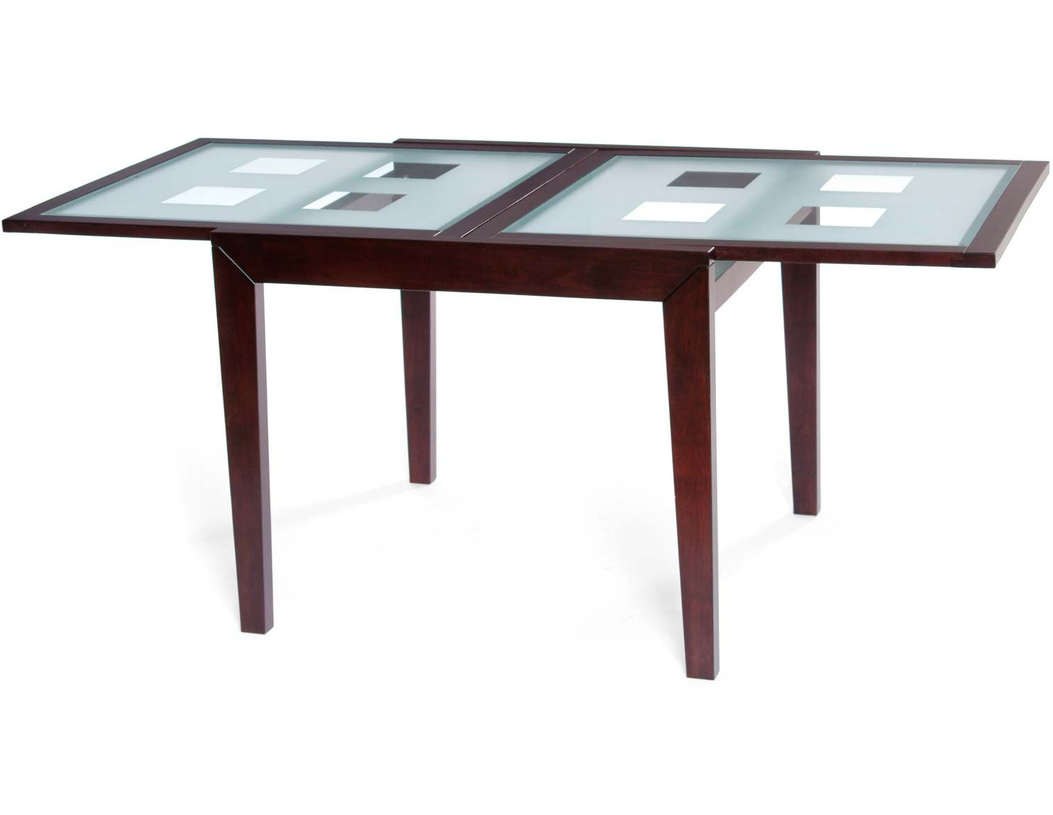 Preferred Modern Glass Top Extension Dining Tables In Matte Black Intended For Tivoli Extendable Dining Room Glass Top $599 Structube  (View 26 of 30)