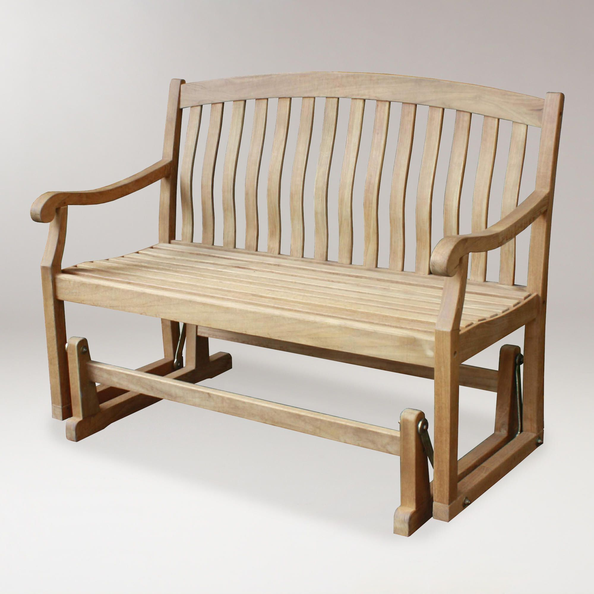Preferred Need To Spruce Up Your Space For Fall? Check Out Cost Plus With Teak Glider Benches (View 12 of 30)