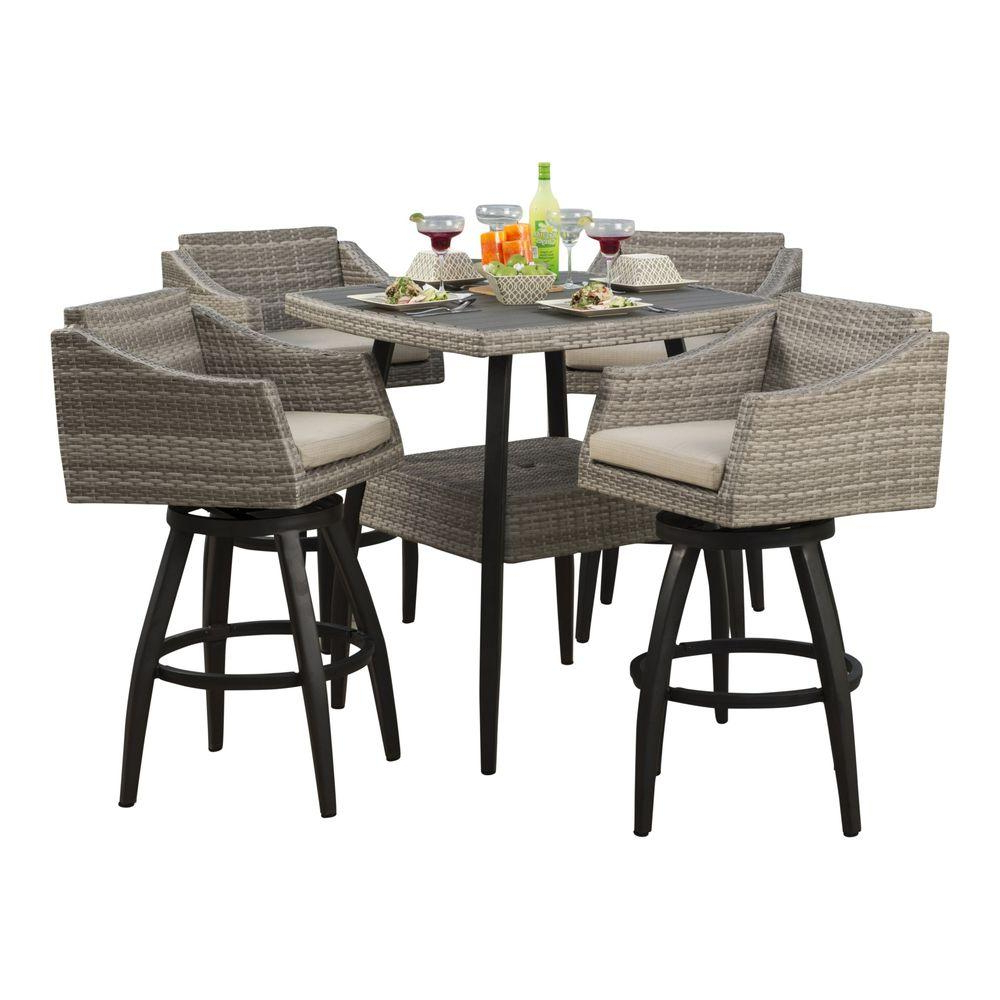 Preferred Patio Square Bar Dining Tables Pertaining To New Pub Style Patio Furniture Decorating Garden Table Bar (View 12 of 30)
