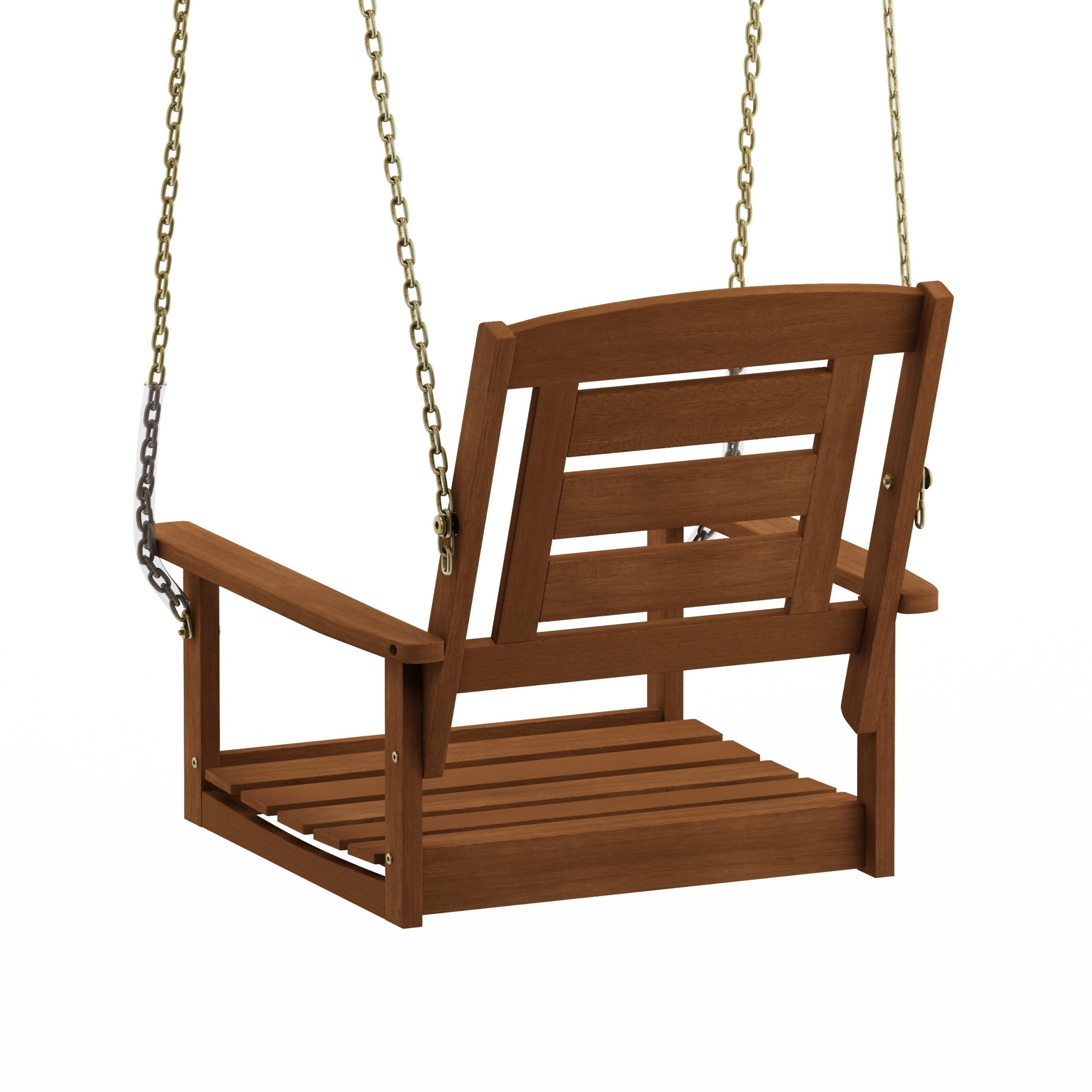 Preferred Porch Swings With Chain Regarding Havenside Home Ormond Hardwood Single Hanging Porch Swing With Chain (View 4 of 30)