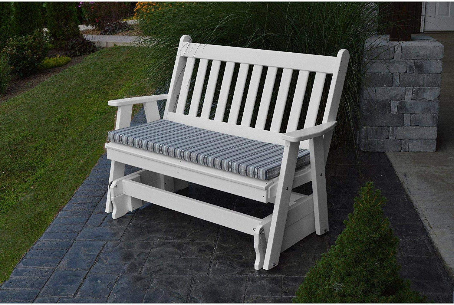 Preferred Traditional English Glider Benches For Amazon : A&l Furniture Company Traditional English (View 24 of 34)