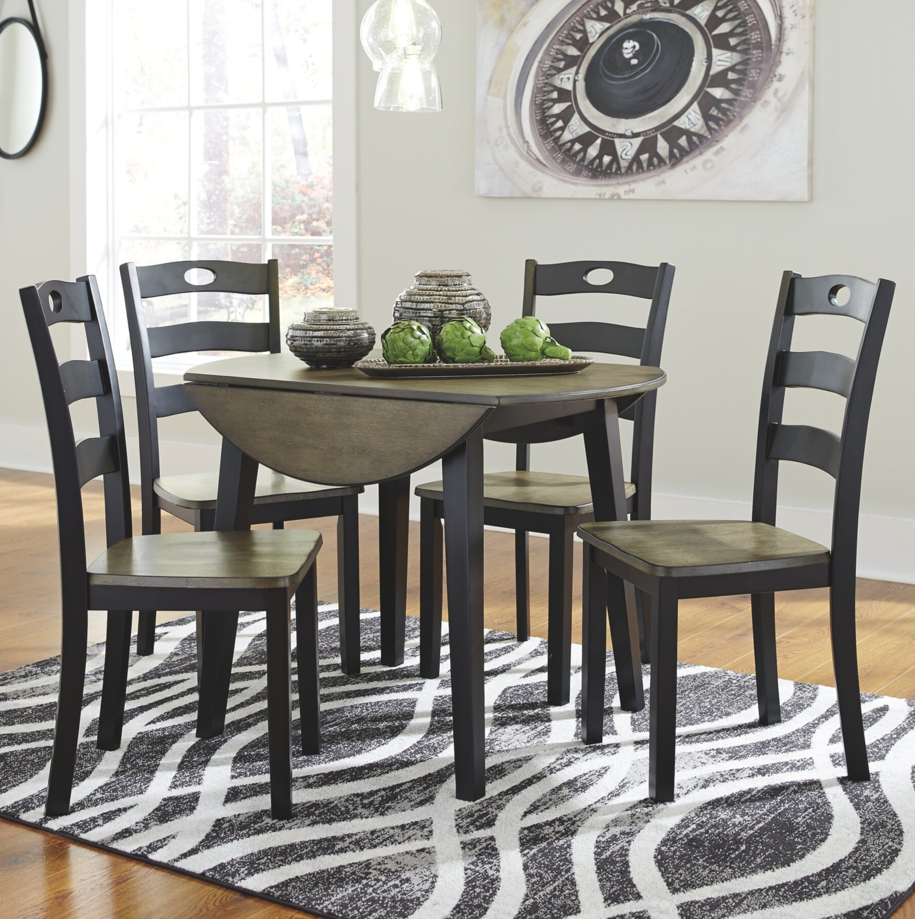 Preferred Transitional 3 Piece Drop Leaf Casual Dining Tables Set Intended For Fager 5 Piece Drop Leaf Dining Set (View 17 of 30)