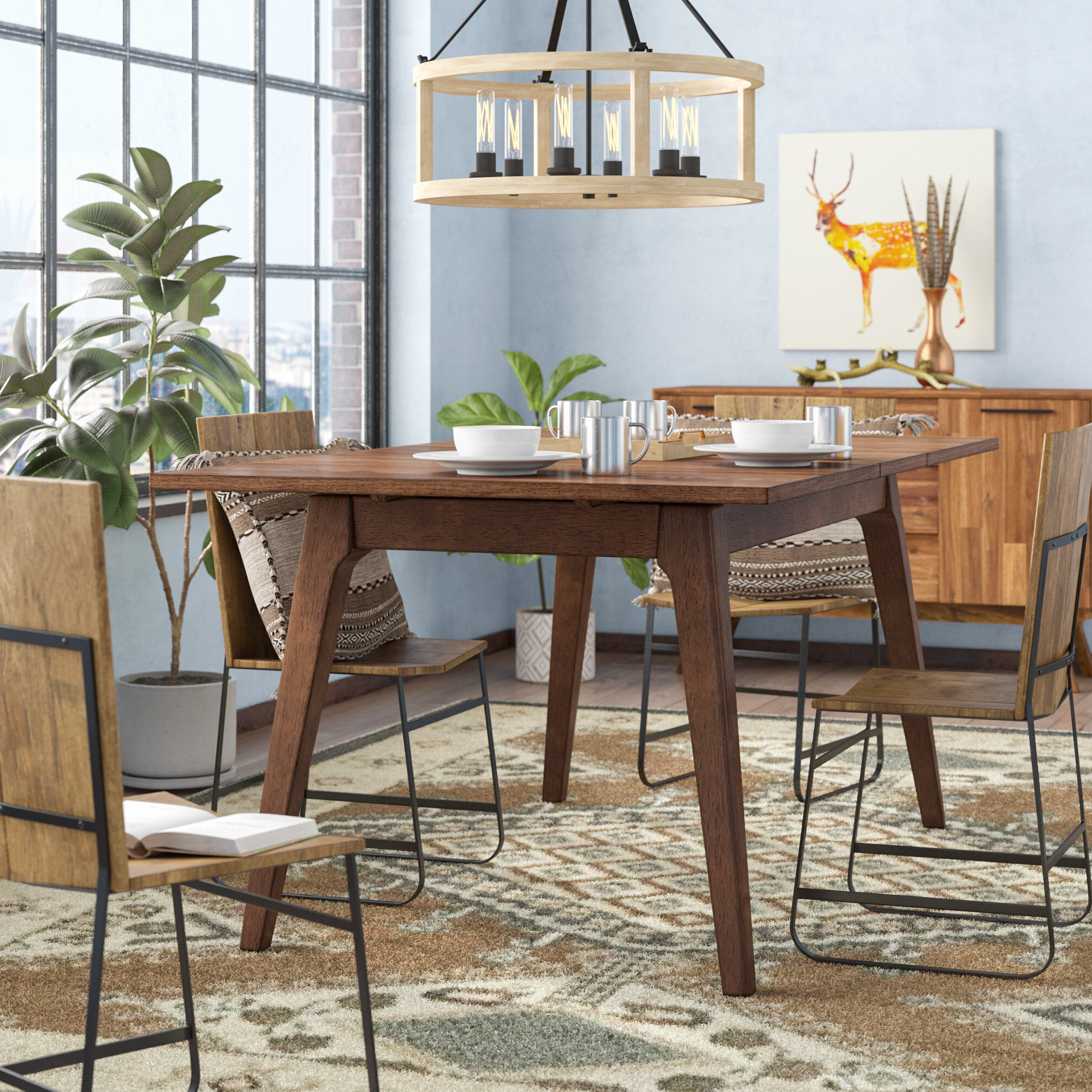 Preferred Transitional 4 Seating Double Drop Leaf Casual Dining Tables Regarding Union Rustic Lehto Drop Leaf Dining Table & Reviews (View 10 of 30)