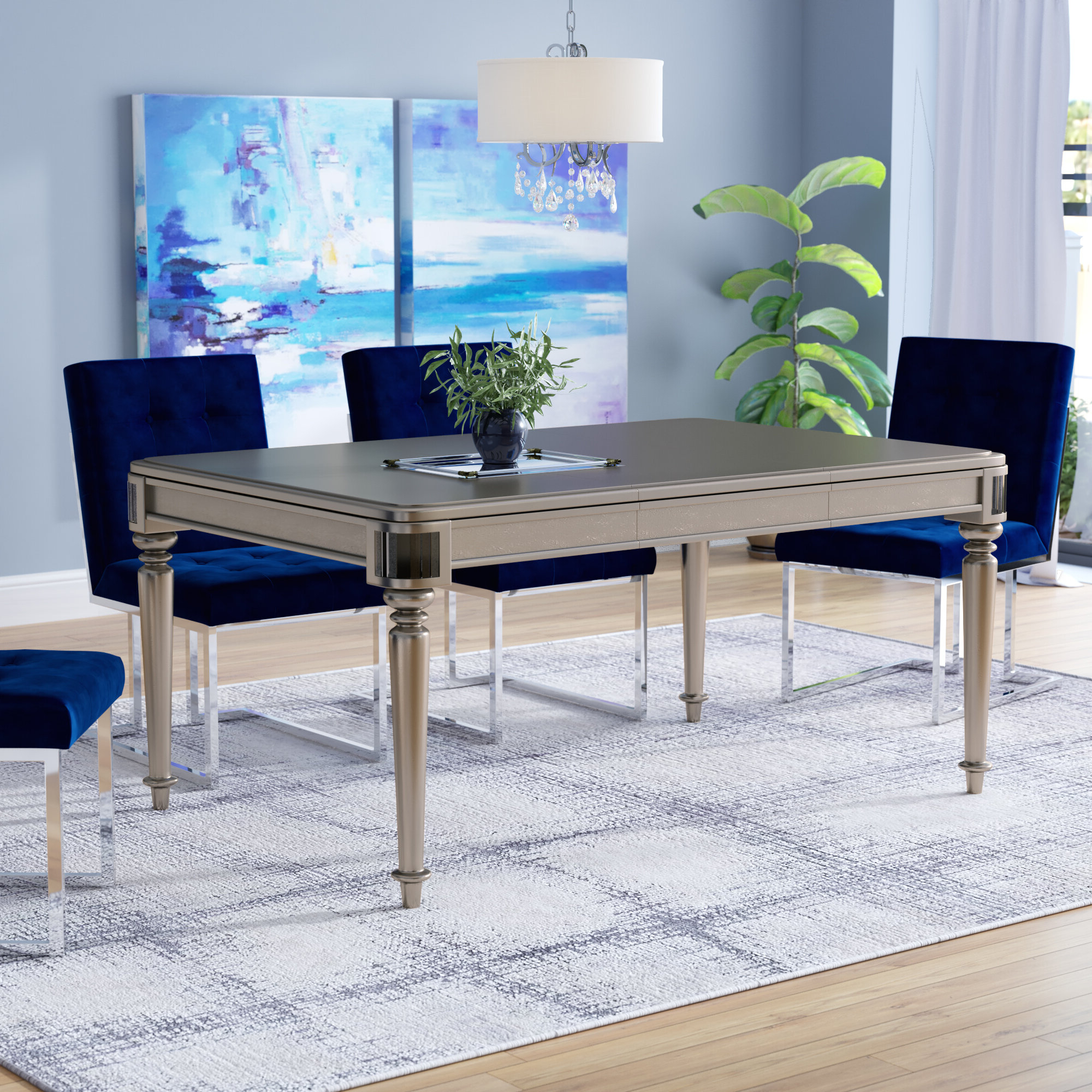 Preferred Transitional 4 Seating Drop Leaf Casual Dining Tables With Regard To House Of Hampton Barney Drop Leaf Extendable Dining Table (View 13 of 30)