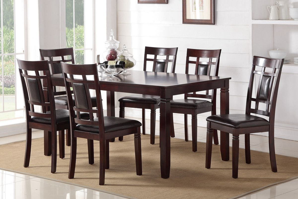 Preferred Transitional 6 Seating Casual Dining Tables For Whatever Your Liking, This Espresso Wood Finished Casual (View 16 of 30)