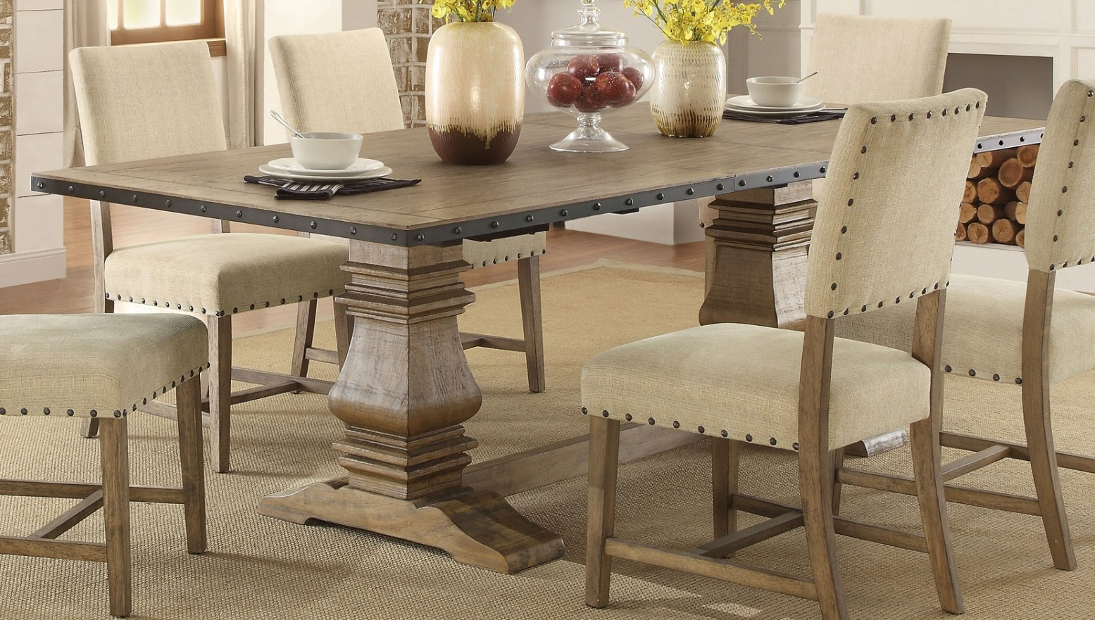 Preferred Veltry Transitional Rectangular Wood Dining Table Pertaining To Transitional Rectangular Dining Tables (View 5 of 30)