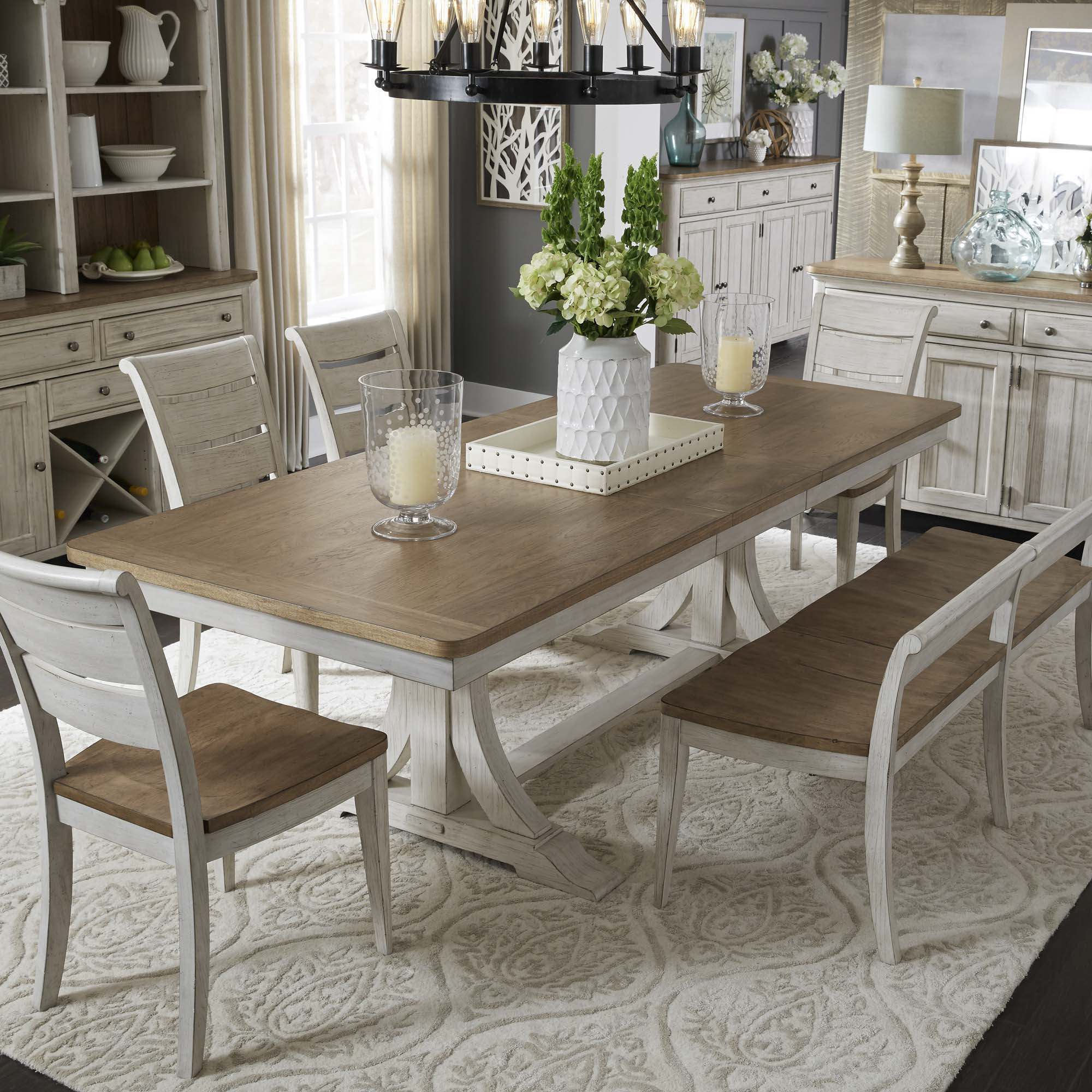 Preferred Walnut And Antique White Finish Contemporary Country Dining Tables Intended For Homepage Title (View 22 of 30)