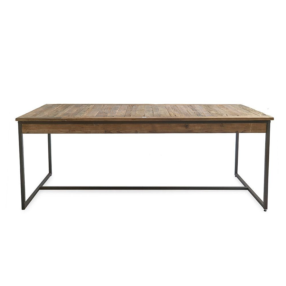 Provence Accent Dining Tables Within 2017 Riviera Maison Shelter Island Dining Table Elm Wood Iron 200x90cm (View 6 of 30)