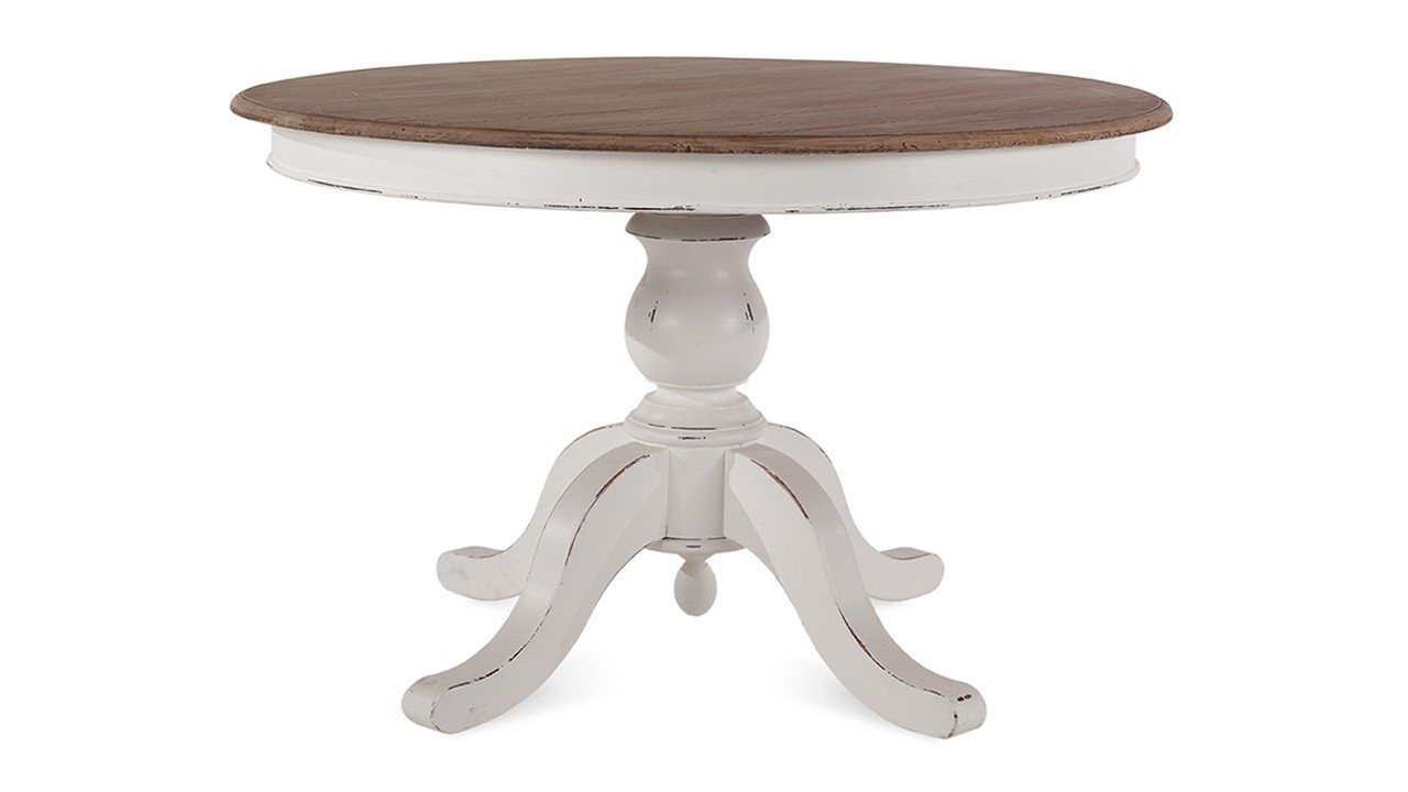 Provence Accent Dining Tables Within Current Farmhouse Round Pedestal Table (View 30 of 30)