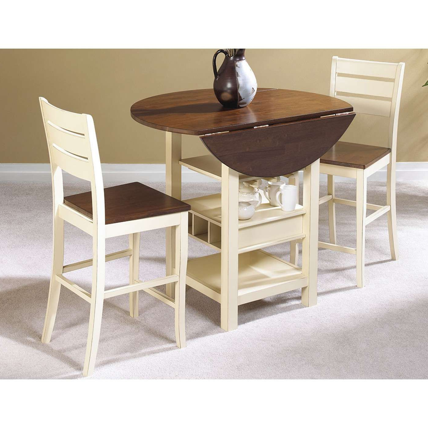 Pub Throughout Well Known Transitional 3 Piece Drop Leaf Casual Dining Tables Set (View 18 of 30)