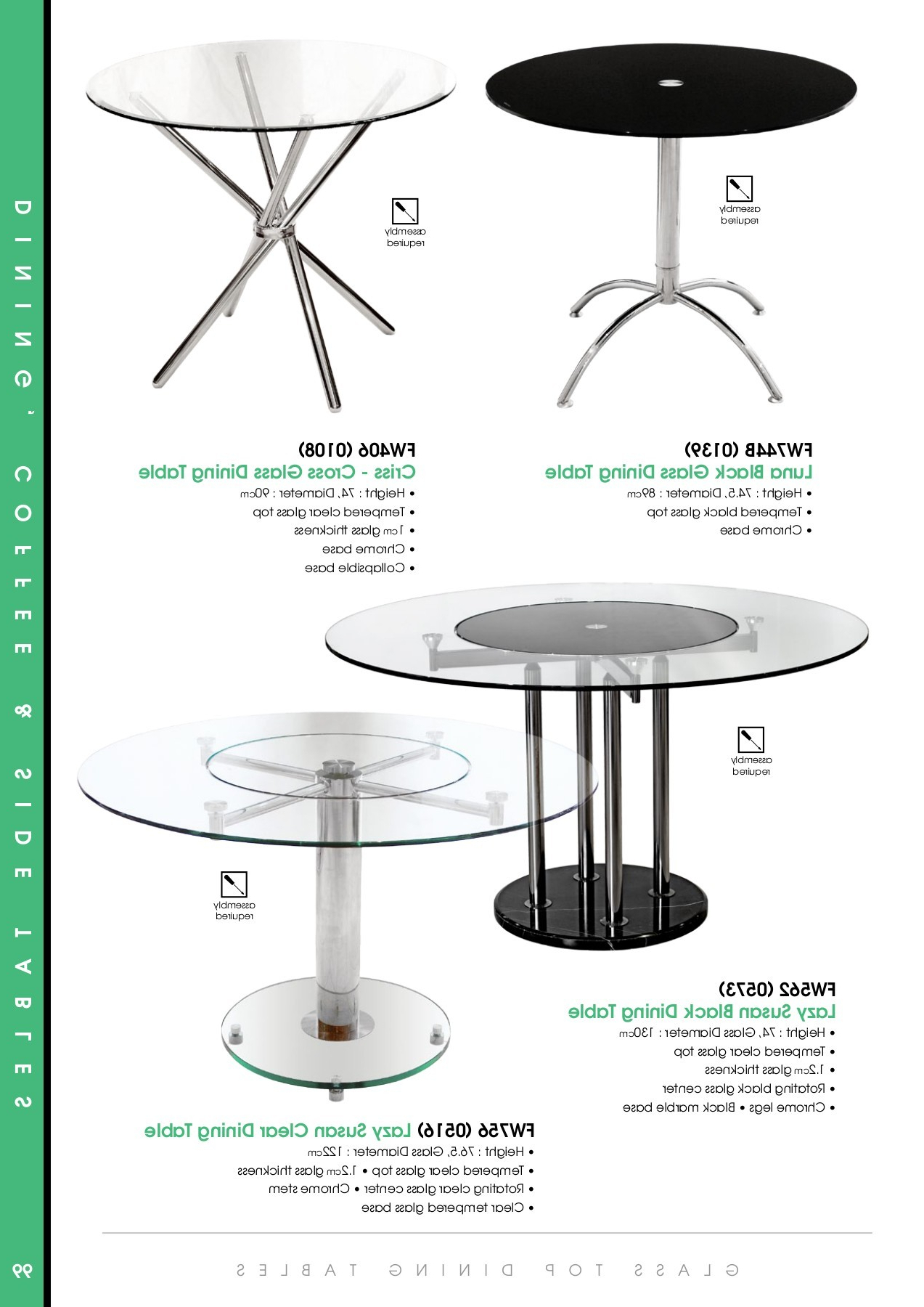 Pubhtml5 Intended For Current Eames Style Dining Tables With Chromed Leg And Tempered Glass Top (View 23 of 30)