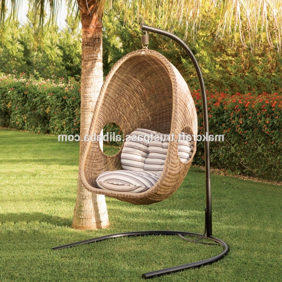 Rattan Garden Swing Chairs Intended For Most Up To Date Synthetic Wicker Hanging Chair Outdoor Rattan Swing Chair – Garden Furniture Outdoor Swing Chair With Steel Frame Power Coated – Buy Garden Swing Egg (View 2 of 31)