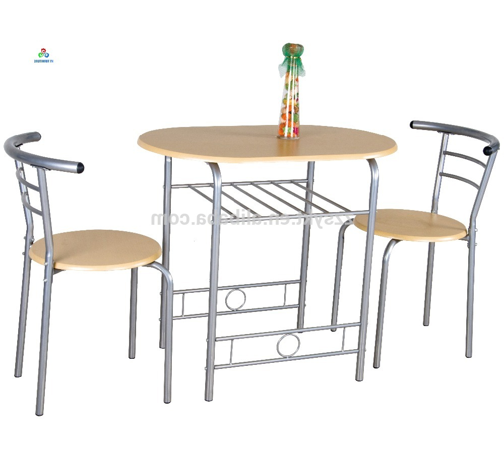 Recent 3 Pieces Dining Tables And Chair Set Intended For Unique 3 Piece Kitchen Bistro Metal Wooden Breakfast Dining Table Chair Set  – Buy 3 Piece Breakfast Table Set,wooden Dining Table And Chair,metal (View 24 of 30)