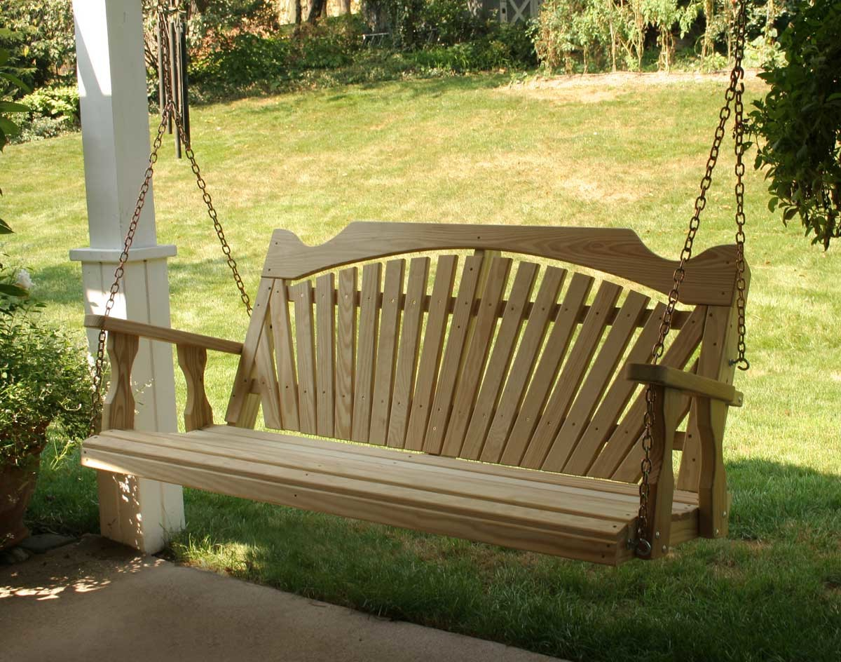 Recent 39 Dreamy Porch Swings That Abound Elegance (Pictures In Hardwood Hanging Porch Swings With Stand (View 27 of 30)