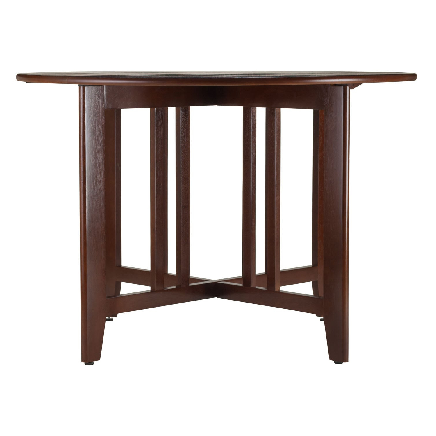 "Recent Alamo Double Drop Leaf Round 42"" Table Mission – N/a With Alamo Transitional 4 Seating Double Drop Leaf Round Casual Dining Tables (View 2 of 19)"