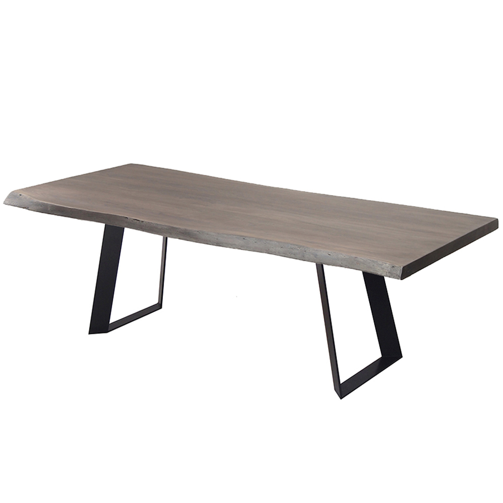 """Recent Corcoran Acacia Live Edge Dining Table With Black Rocket Legs – 72"""" Pertaining To Acacia Dining Tables With Black Rocket Legs (View 27 of 30)"""