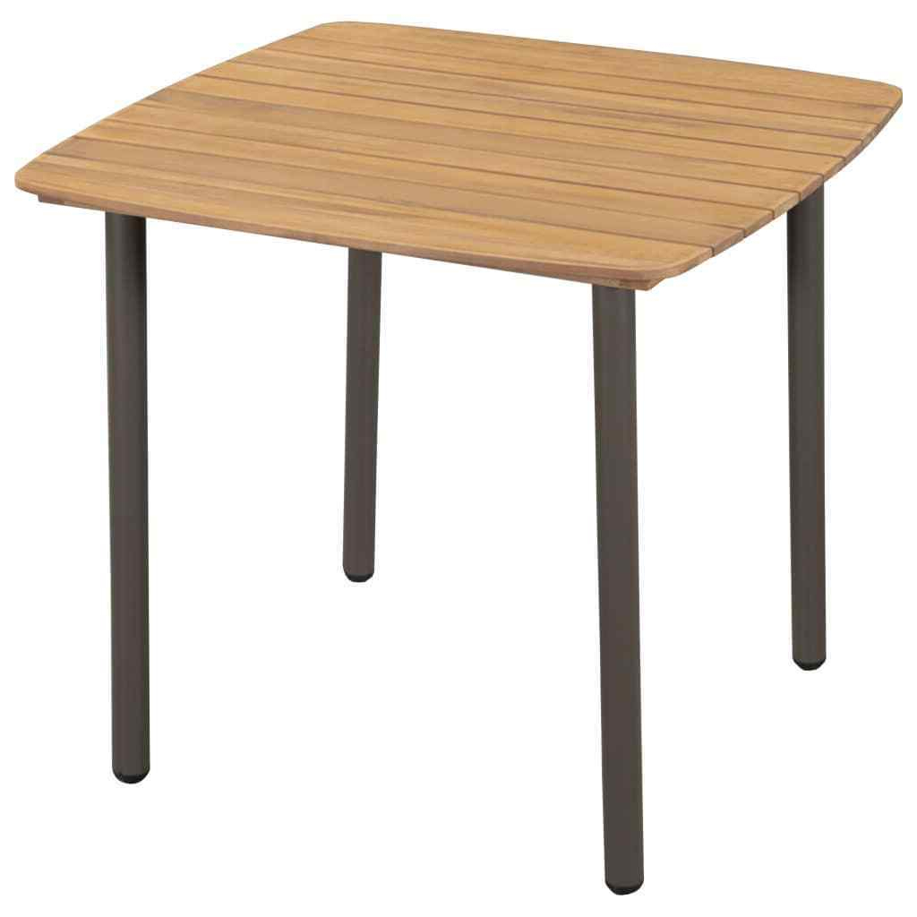 """Recent Details About New Solid Acacia Wood Outdoor Dining Table Steel 31.5""""x (View 22 of 30)"""
