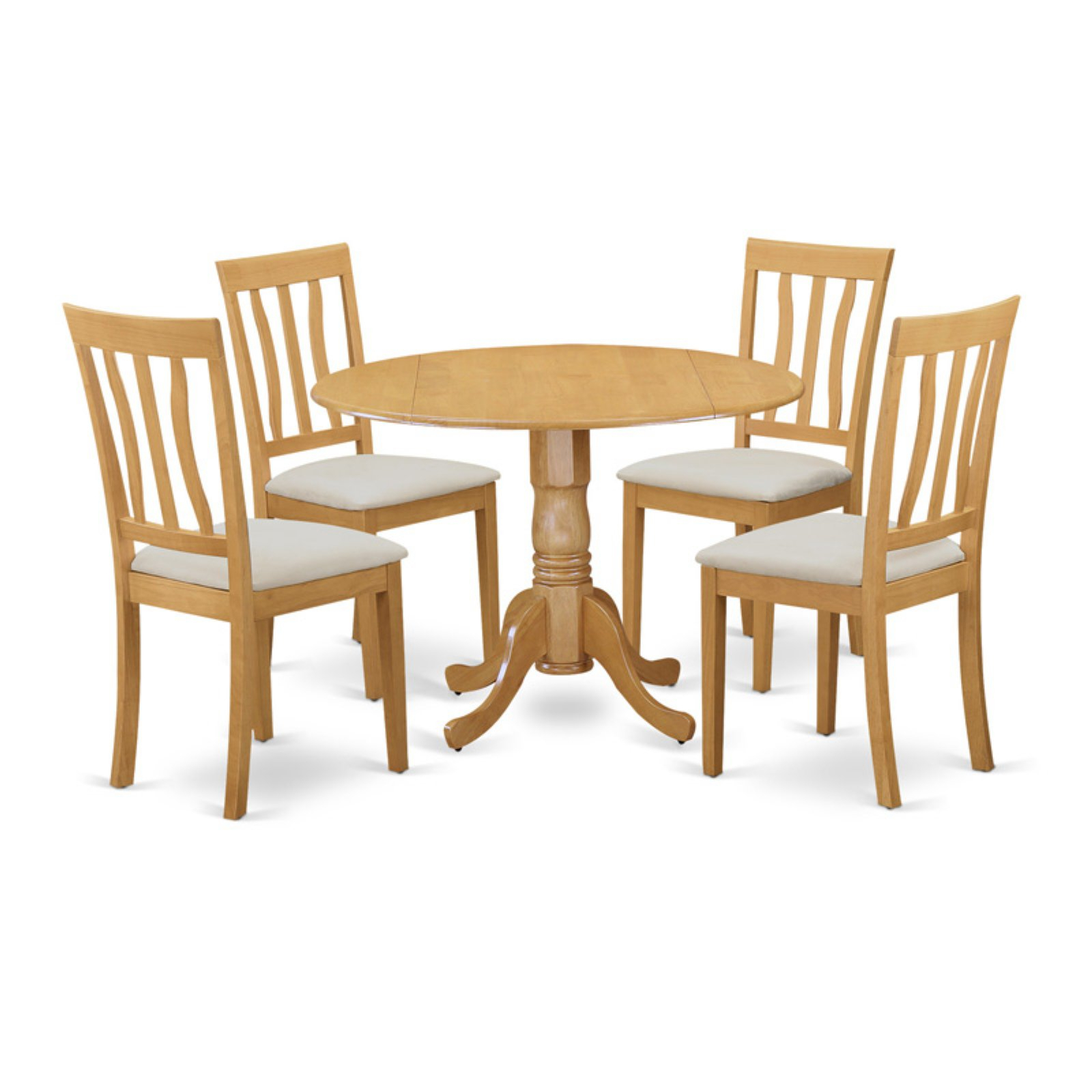 Recent East West Furniture 5 Piece Splat Back Drop Leaf Dinette Dining Table Set Intended For Transitional 3 Piece Drop Leaf Casual Dining Tables Set (View 19 of 30)