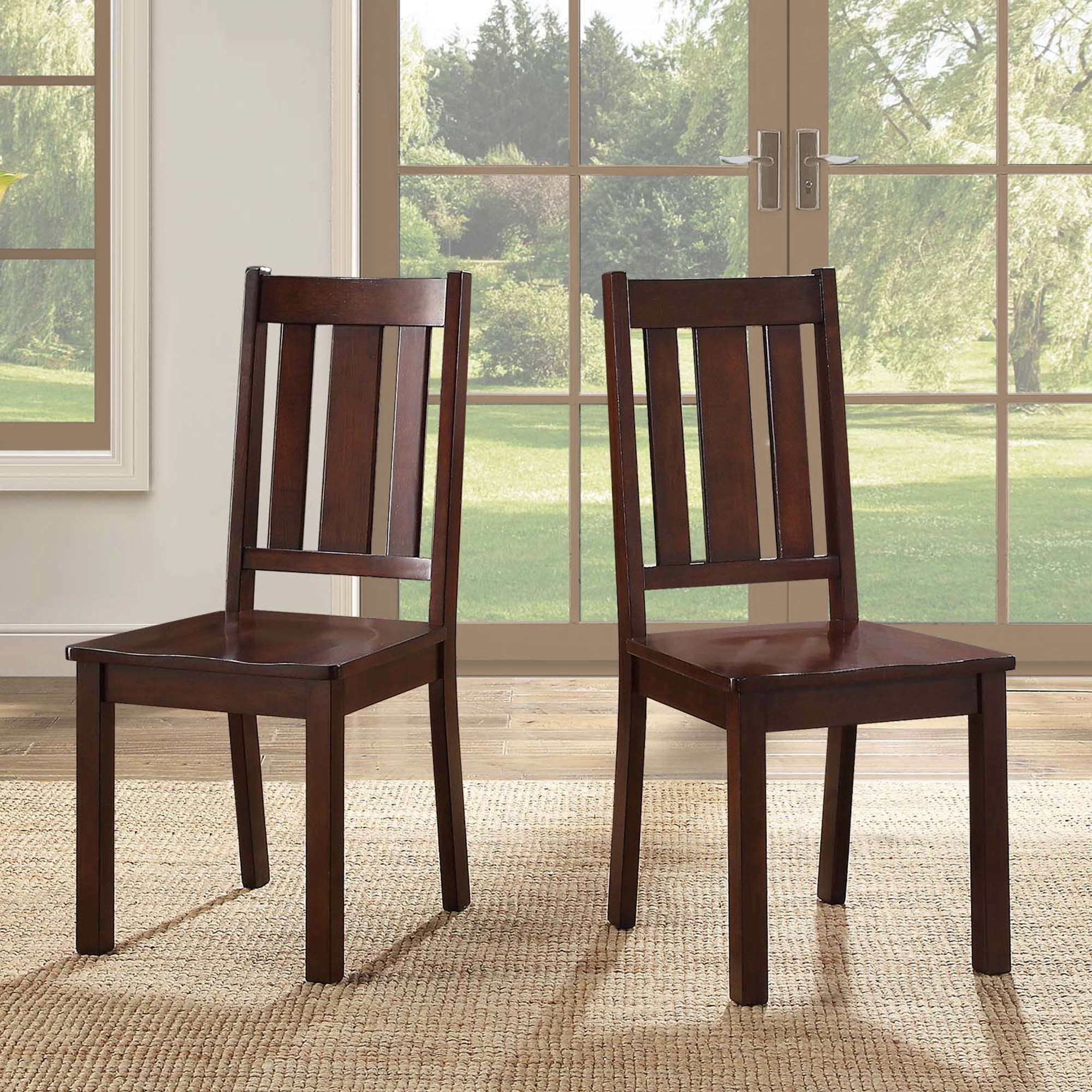 Recent Espresso Finish Wood Classic Design Dining Tables With The 8 Best Dining Chairs At Walmart In  (View 23 of 30)