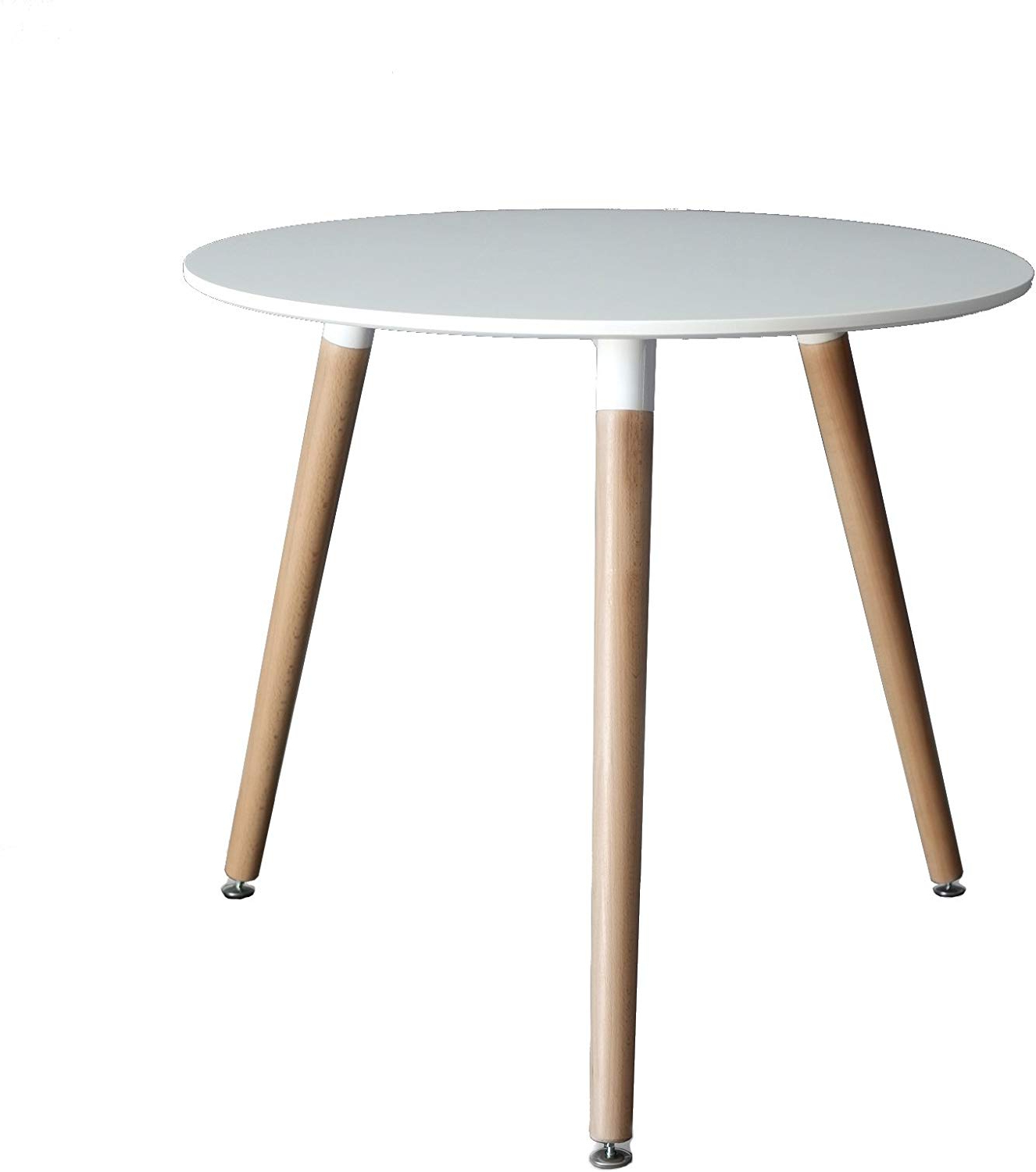 Recent Inspirer Studio® Eames Style Side Table With Natural Wood Legs Eiffel  Dining Room Table Lounge Table (Table White) With Regard To Eames Style Dining Tables With Wooden Legs (View 27 of 30)
