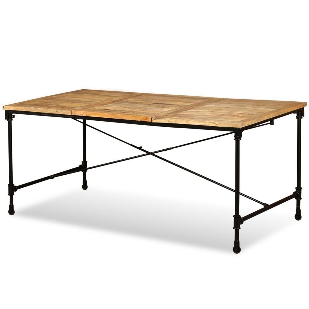Recent Iron Dining Tables With Mango Wood Intended For Amazon – (View 11 of 30)