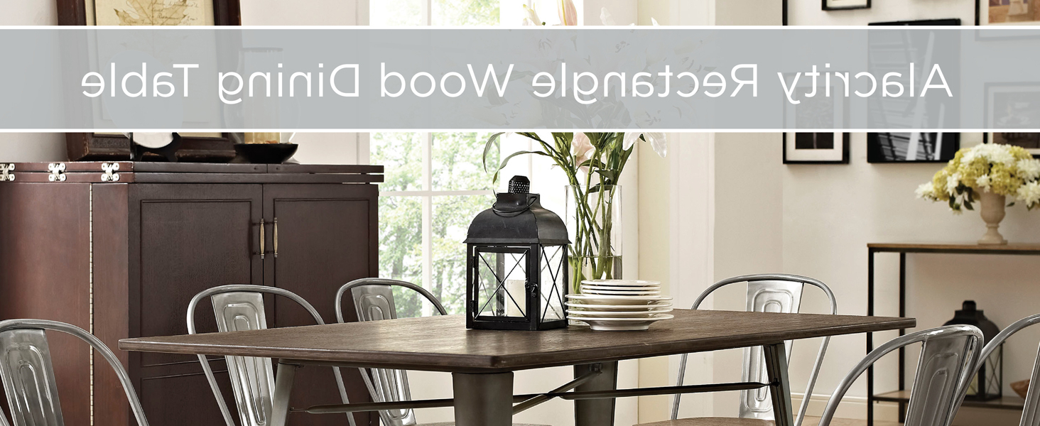 Featured Photo of Small Dining Tables With Rustic Pine Ash Brown Finish
