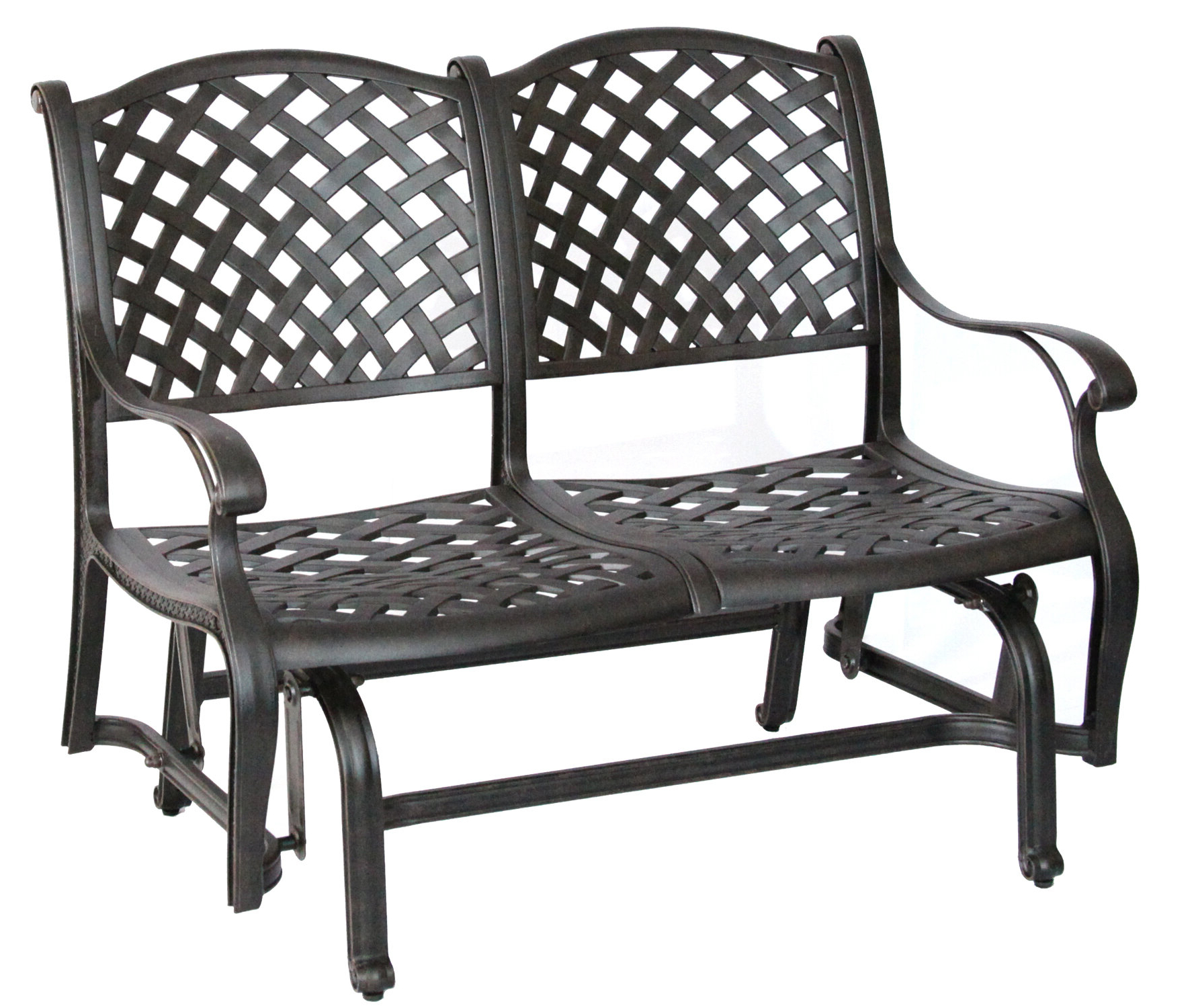 Recent Lincolnville Aluminum Glider Bench With Cushion Inside Glider Benches With Cushion (View 28 of 30)