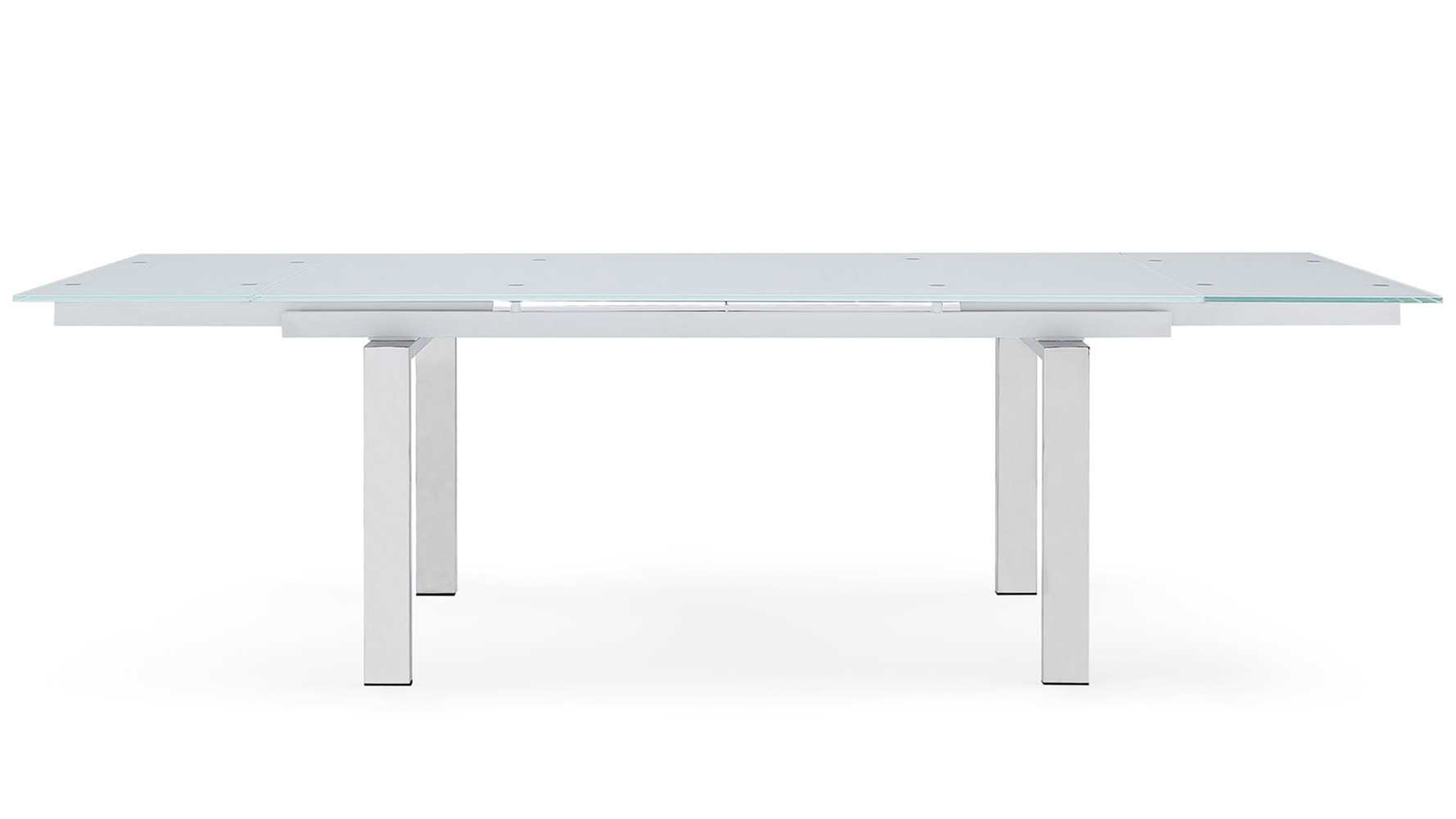 Recent Montez Extension Dining Table With Modern Glass Top Extension Dining Tables In Stainless (View 26 of 30)