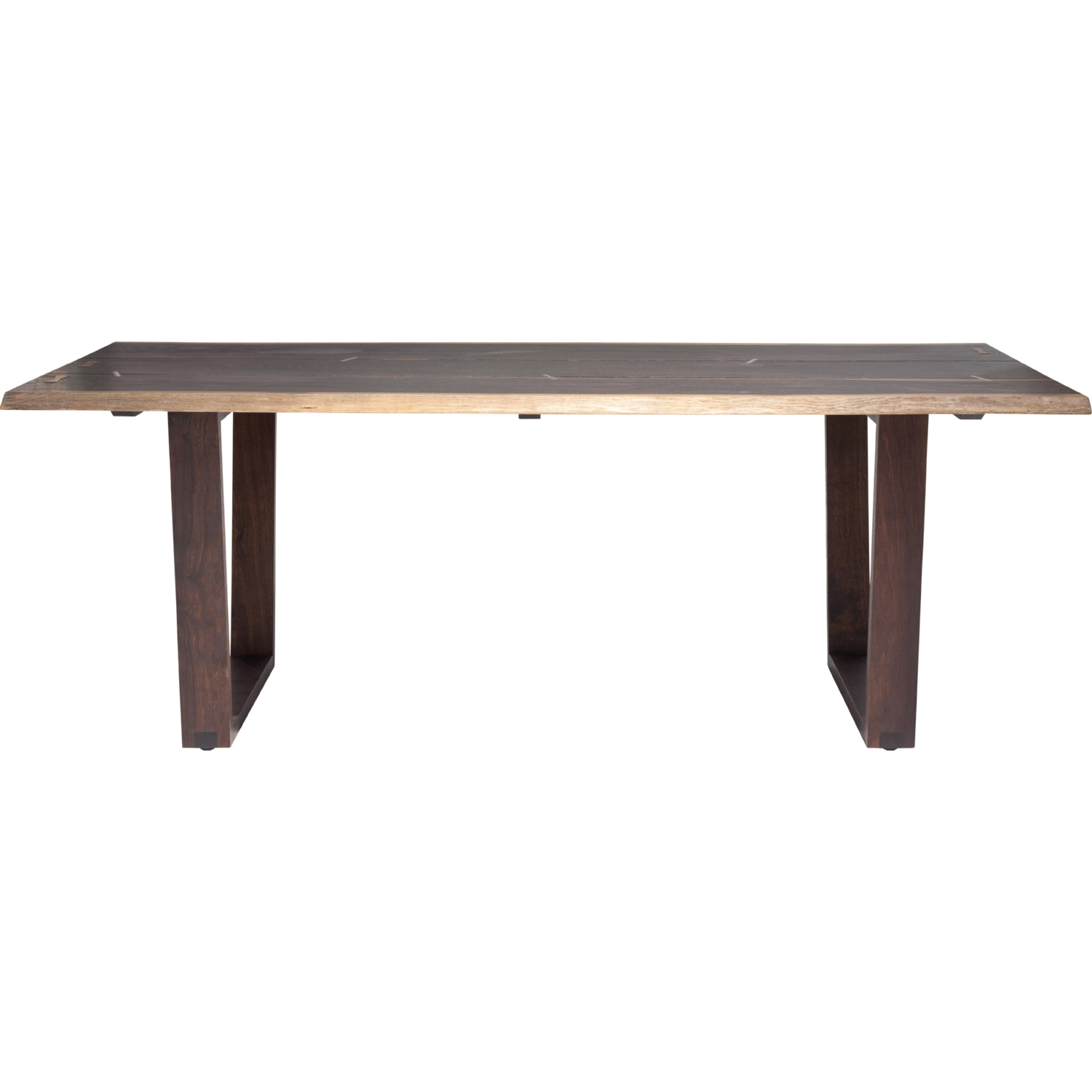 "Recent Napa 94"" Dining Table In Seared Oak W/ Brass Detailnuevo Modern Furniture For Dining Tables In Seared Oak With Brass Detail (View 28 of 30)"