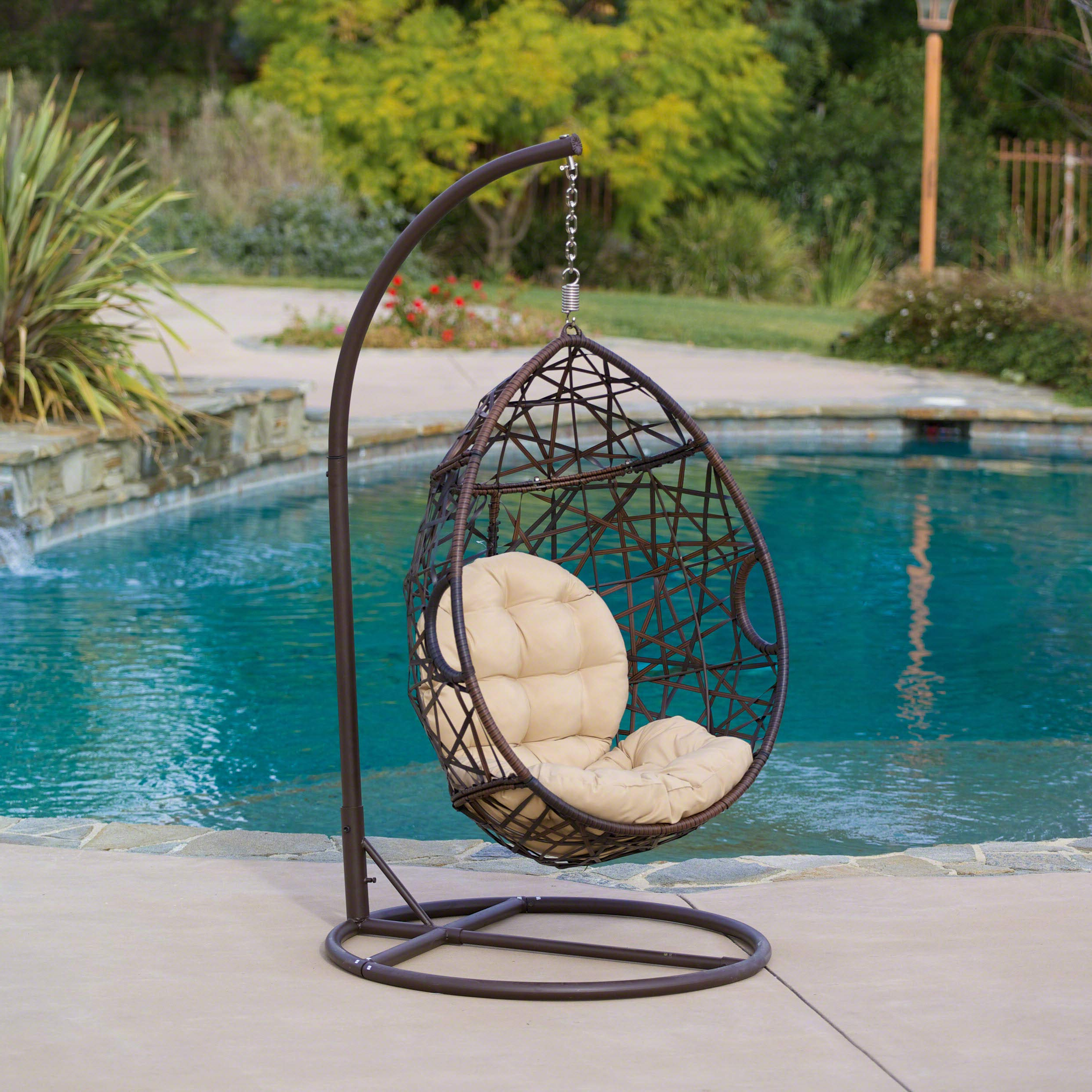 Recent Outdoor Wicker Plastic Tear Porch Swings With Stand Inside Christopher Knight Home (View 23 of 30)