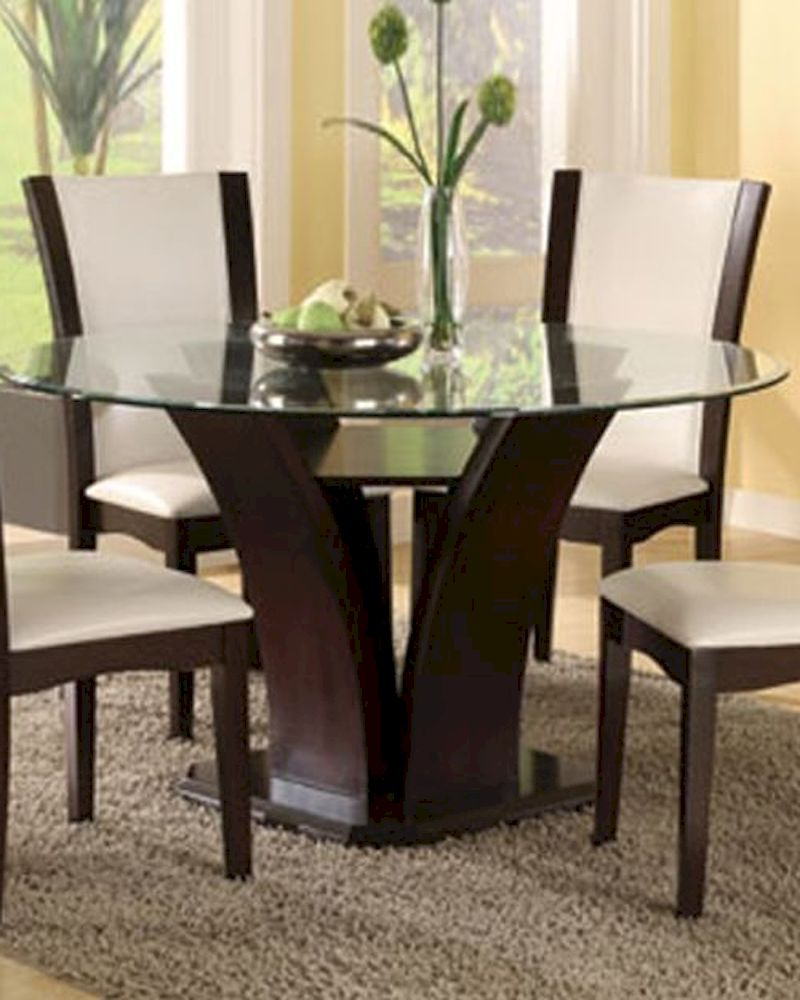 Recent Round Glass Top Dining Table (only) Daisy El 710 54 Regarding Round Glass Top Dining Tables (View 20 of 30)