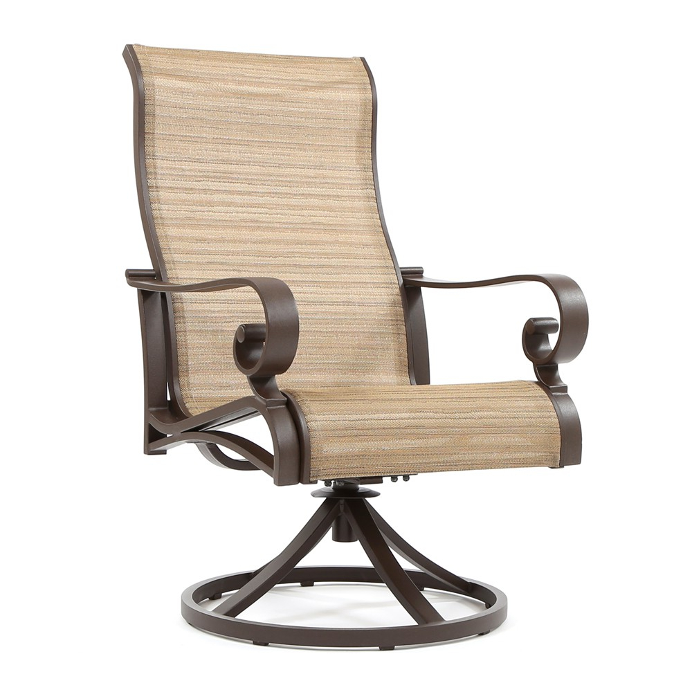 Recent Sling High Back Swivel Chairs Pertaining To Sunvilla Riva Sling High Back Swivel Rocker (View 6 of 30)