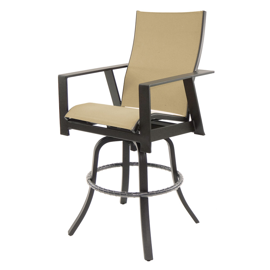 Recent Sling High Back Swivel Chairs With Trento High Back Sling Swivel Bar Stool (View 13 of 30)
