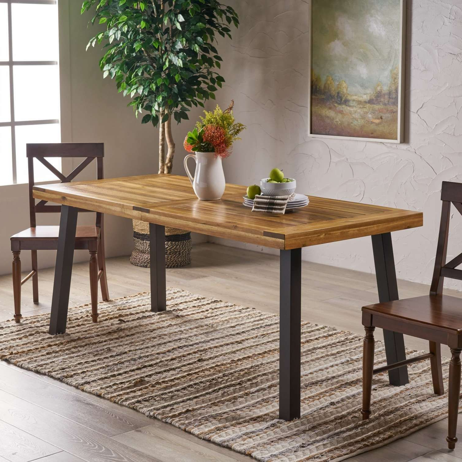 Rectangle Intended For Well Known Transitional 8 Seating Rectangular Helsinki Dining Tables (View 18 of 30)