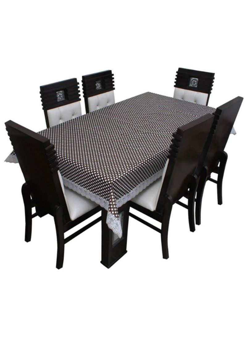 Rectangular Dining Tables With Regard To Popular Shop Floris Fashion 6 Seater Rectangular Dining Table Cover Brown/white  Online In Dubai, Abu Dhabi And All Uae (View 21 of 30)