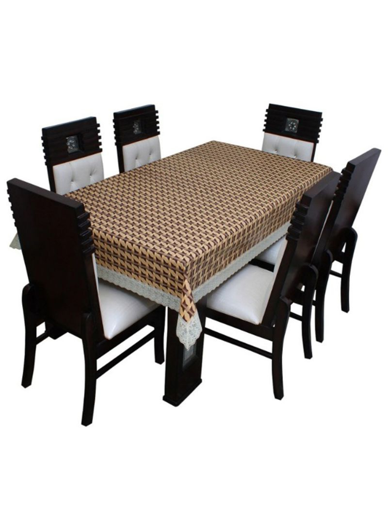 Rectangular Dining Tables Within Well Known Shop Floris Fashion 6 Seater Rectangular Dining Table Cover Multicolour  Online In Dubai, Abu Dhabi And All Uae (View 24 of 30)