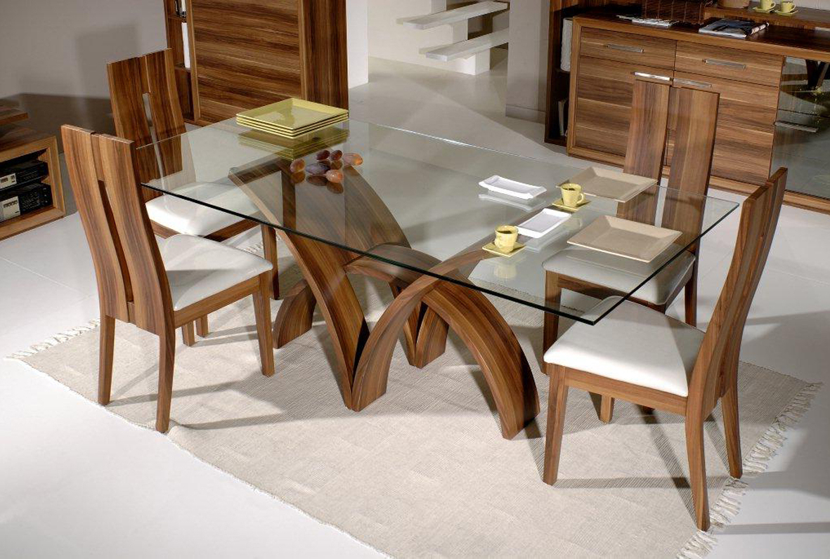 Rectangular Glasstop Dining Tables For Favorite Dining Table Bases For Glass Tops (View 7 of 30)