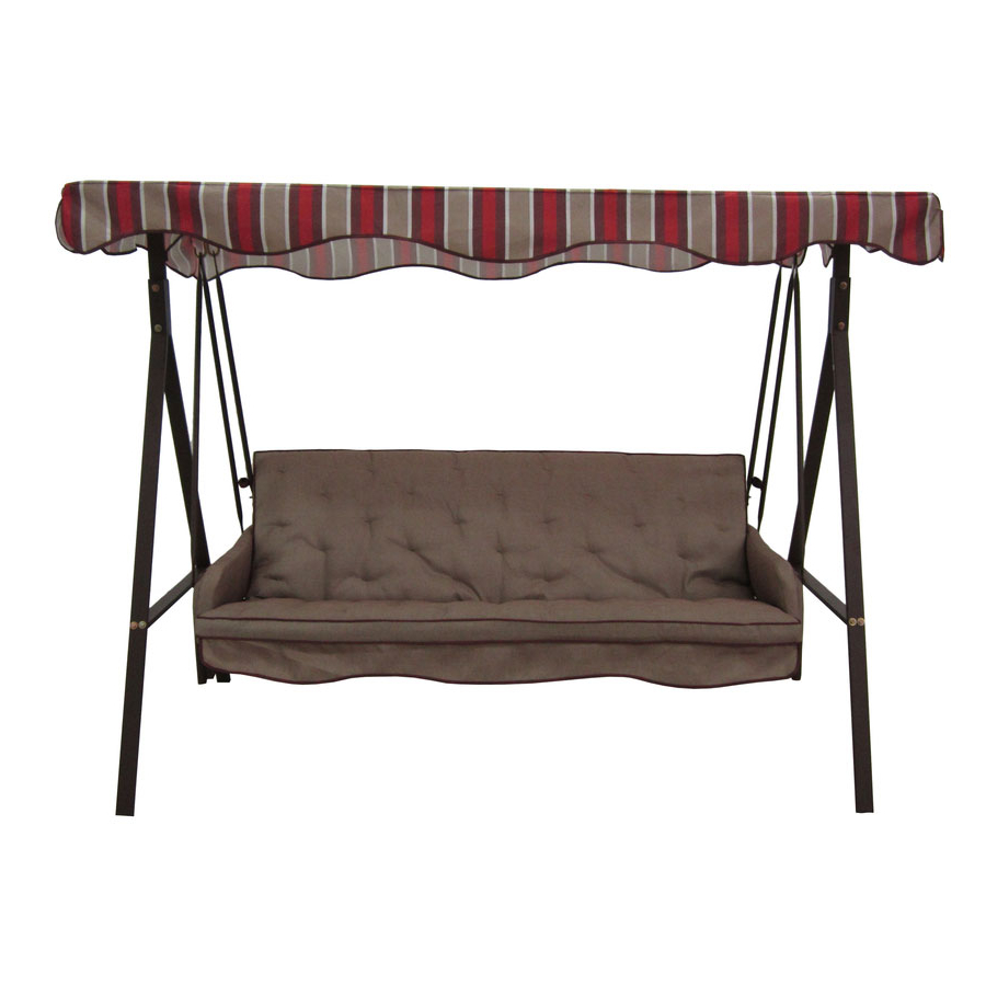 Replacement Canopy For Lowes 3 Person Swing – Brown Garden Winds In Best And Newest 3 Person Outdoor Porch Swings With Stand (View 29 of 30)